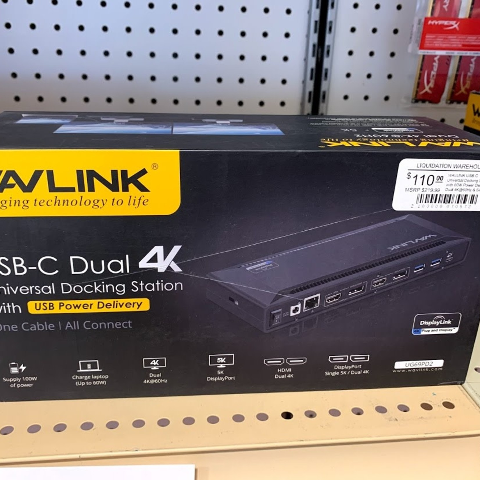 WAVLINK USB C Universal Docking Station with power delivery WL-UG69PD2
