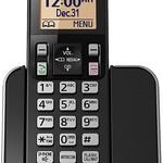 Panasonic KX-TGC350B 1-Handset Expandable Cordless Phone with Amber Backlit Display