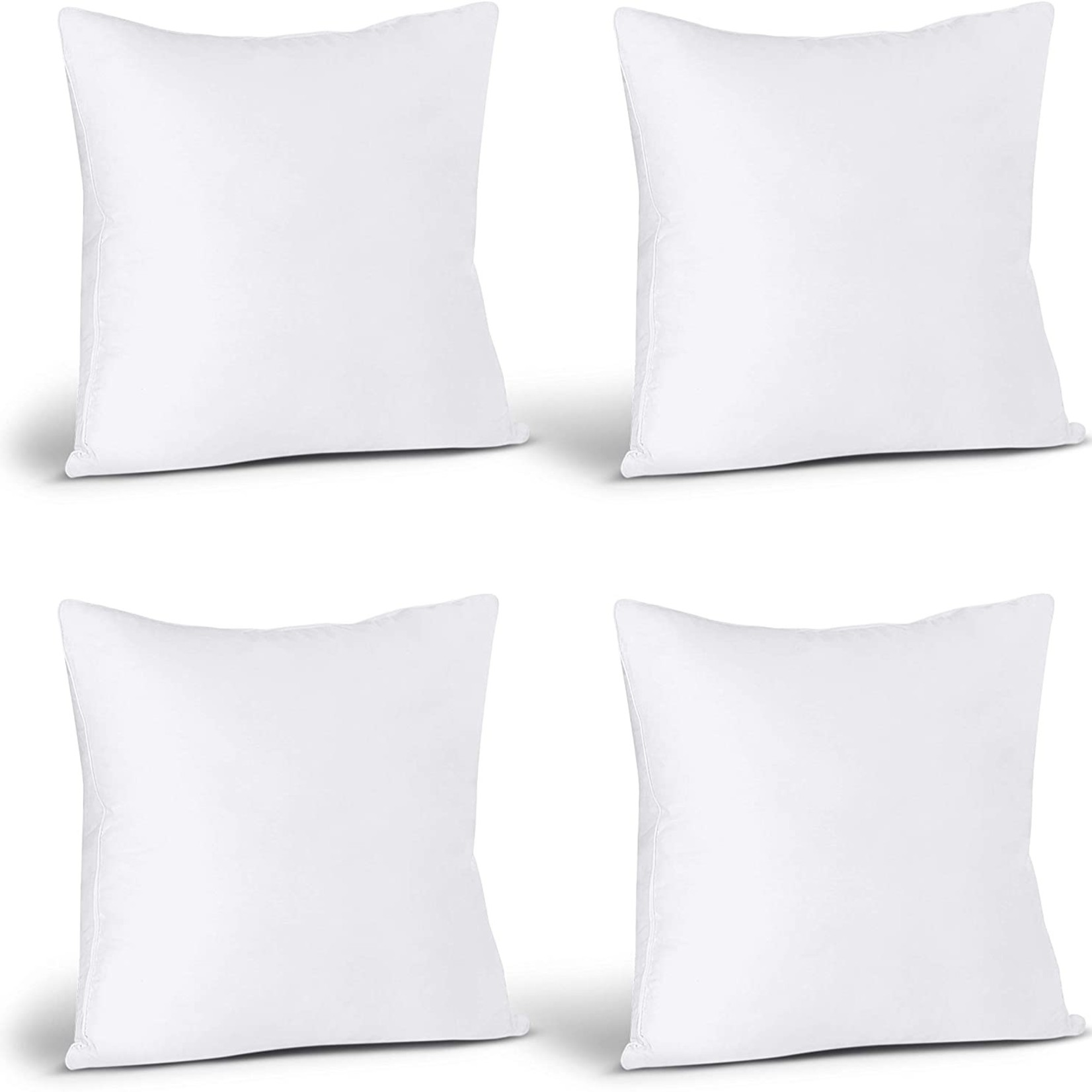 Utopia Bedding Throw Pillows Insert (Pack of 4, White) - 18 x 18 Inches Bed and Couch Pillows