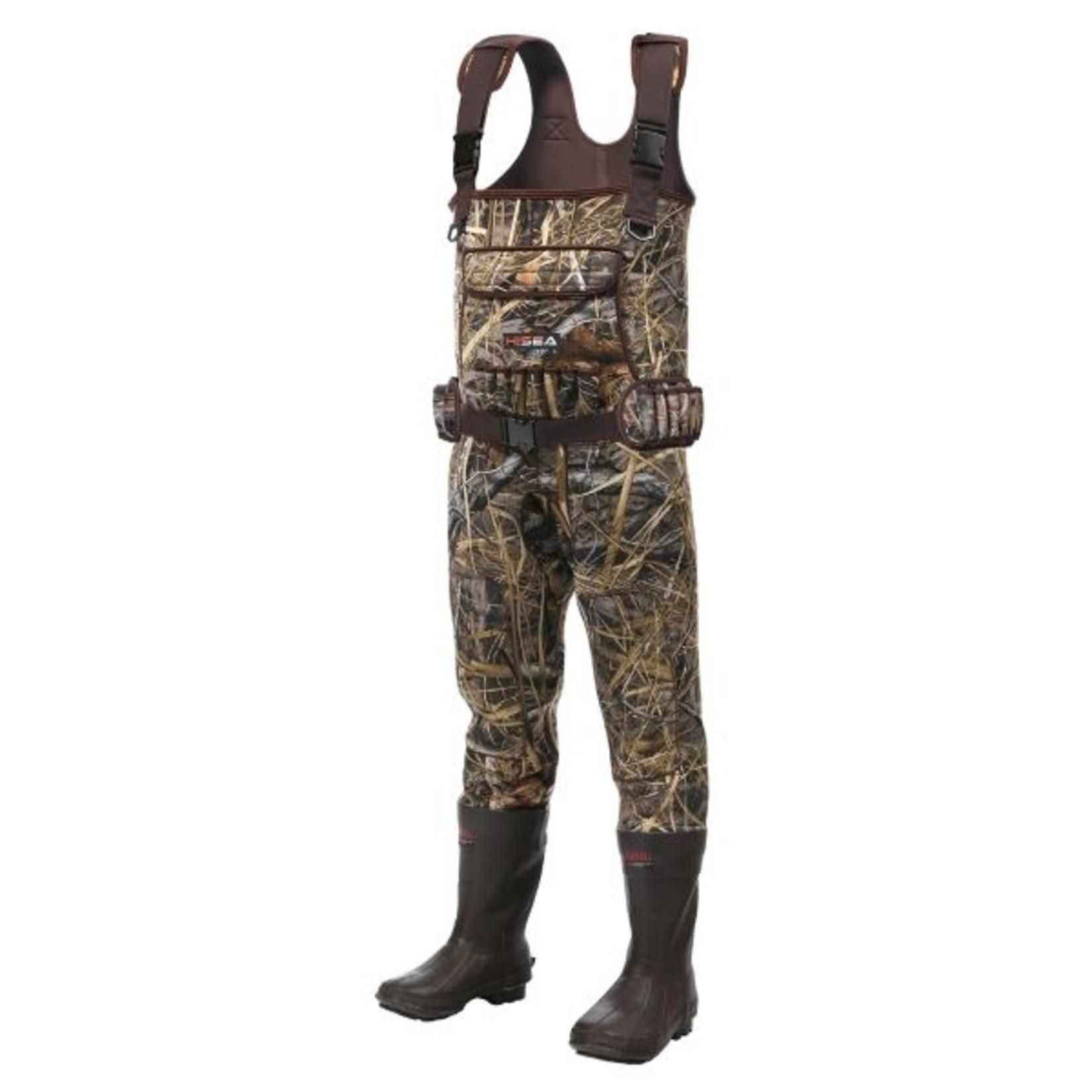 Hisea Men's Wader Size 42 -Size 9 boots -open box