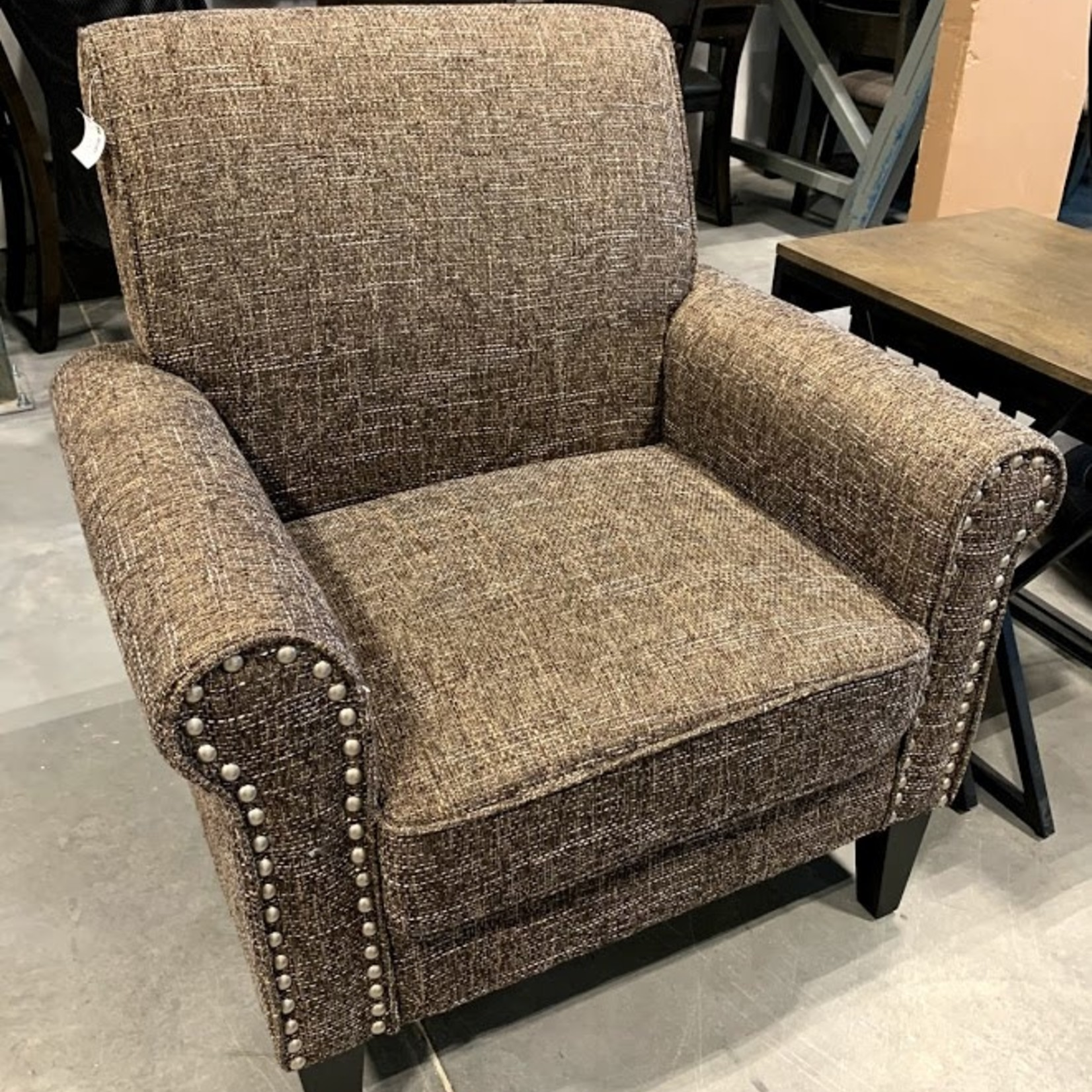 Accent Chair - Brown woven pattern