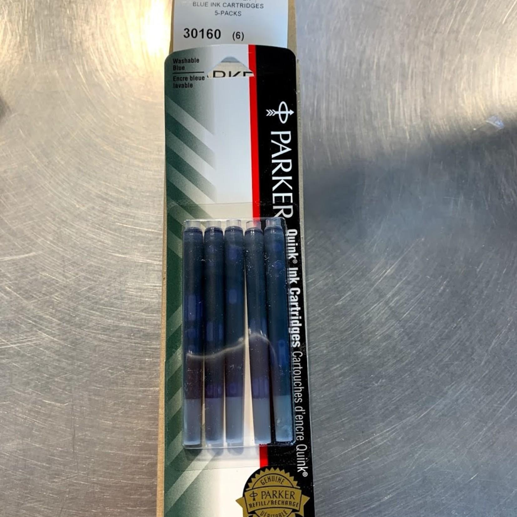 Parker Quink Ink Cartridges Box of 6 Packs -Blue