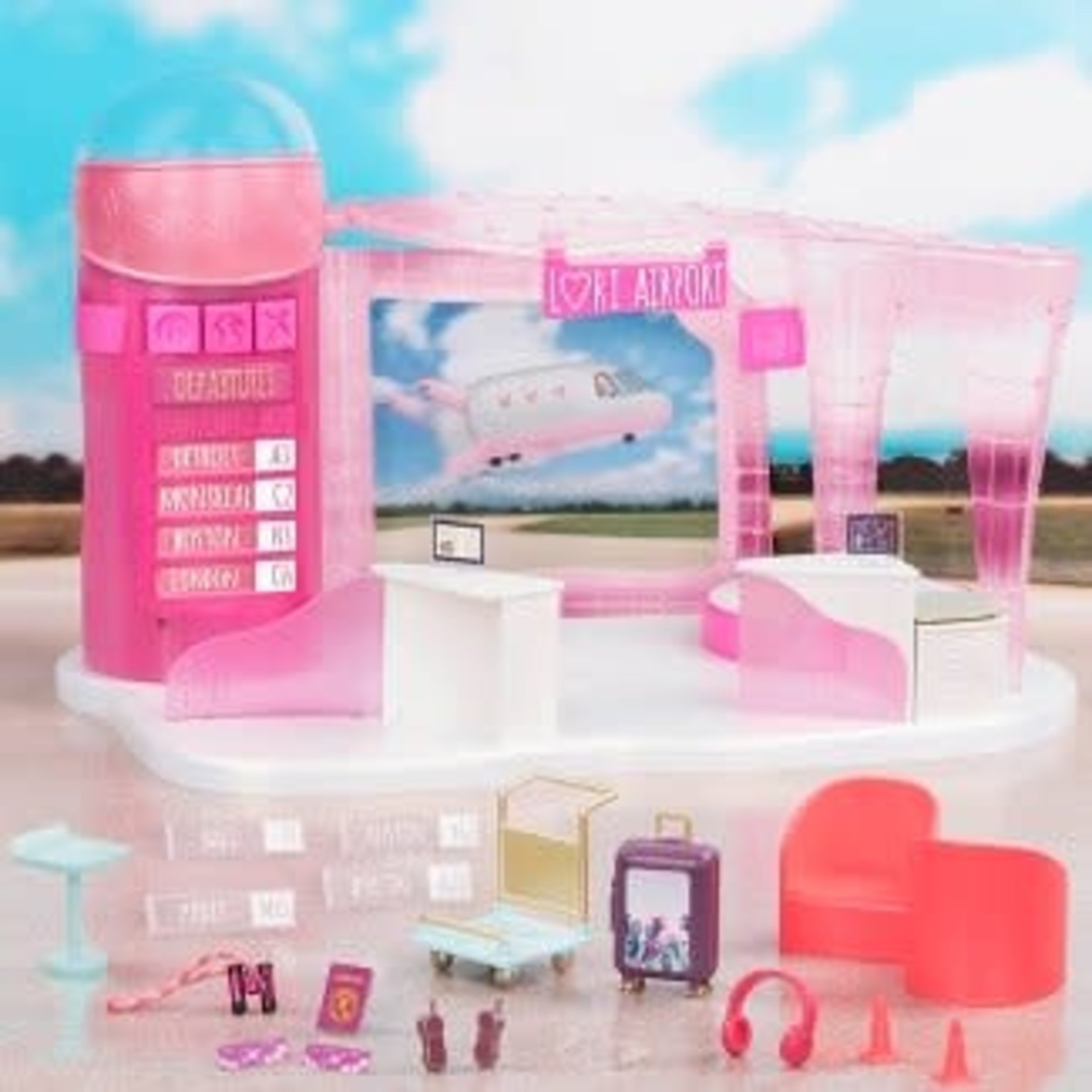Lori Dolls Jetset Airways - Airport for 6-in Dolls *Open box, missing packaging