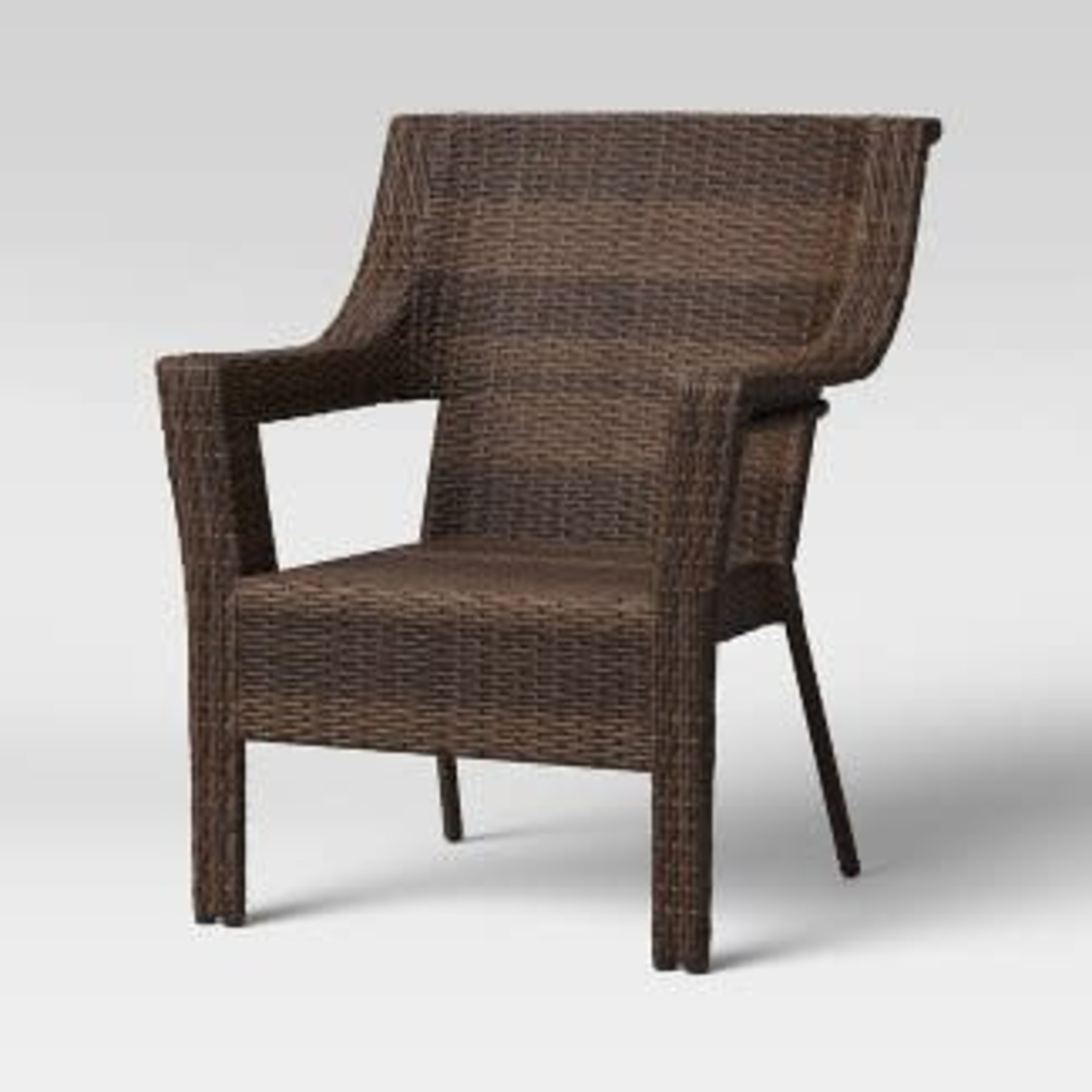 Threshold Southcrest Wicker Stacking Patio Club Chair *Minor imperfections