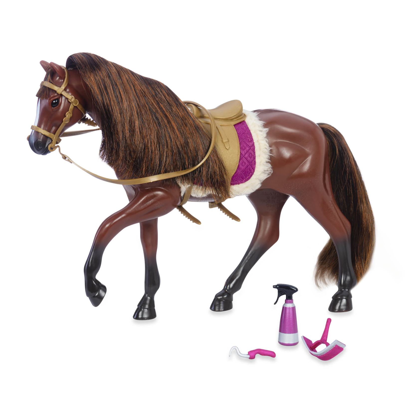 Lori Doll Horse with Accessories - American Quarter Brown
