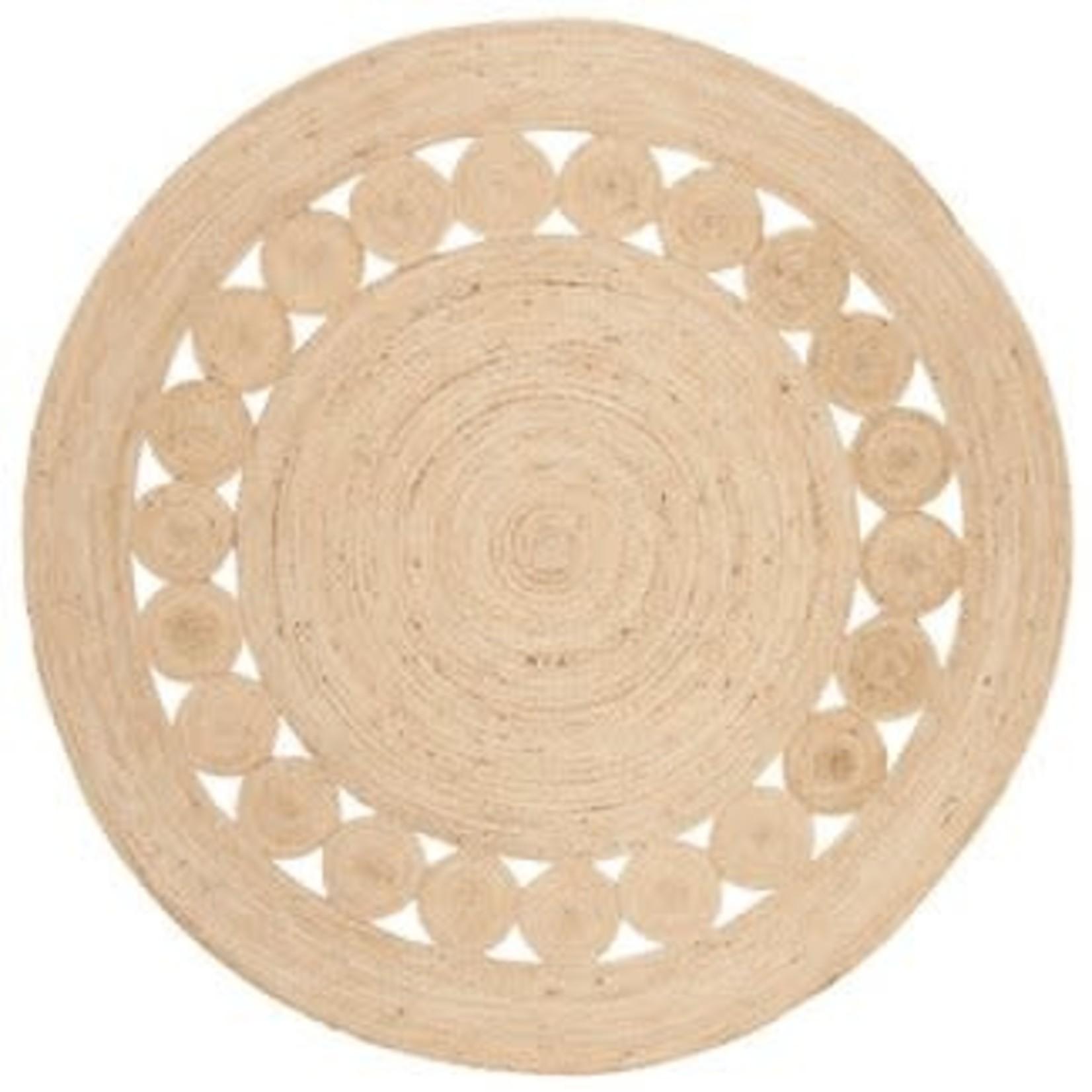 Noemi Solid Woven Round Rug - Safavieh 6'