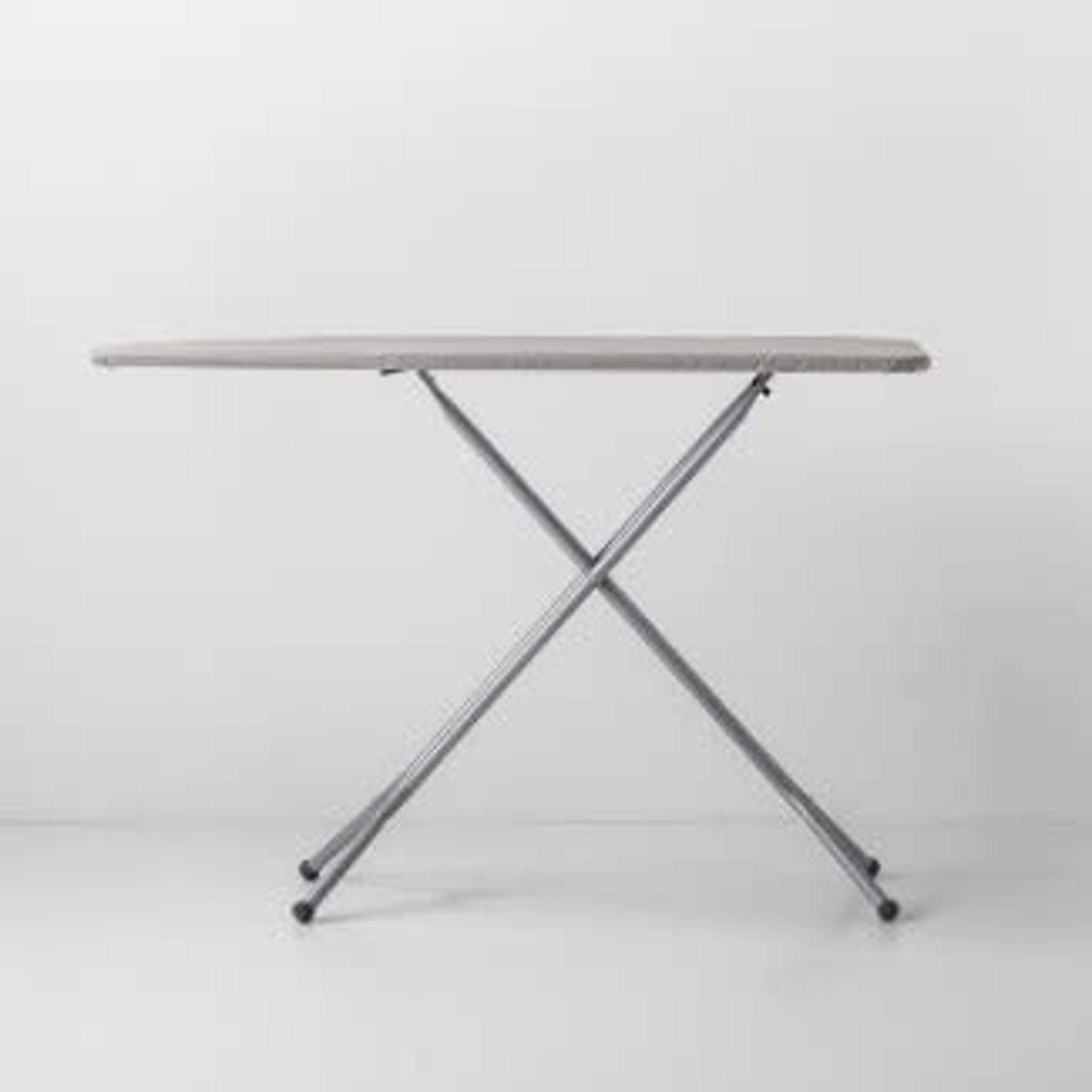Standard Ironing Board Light Gray Metal *Missing one foot cover