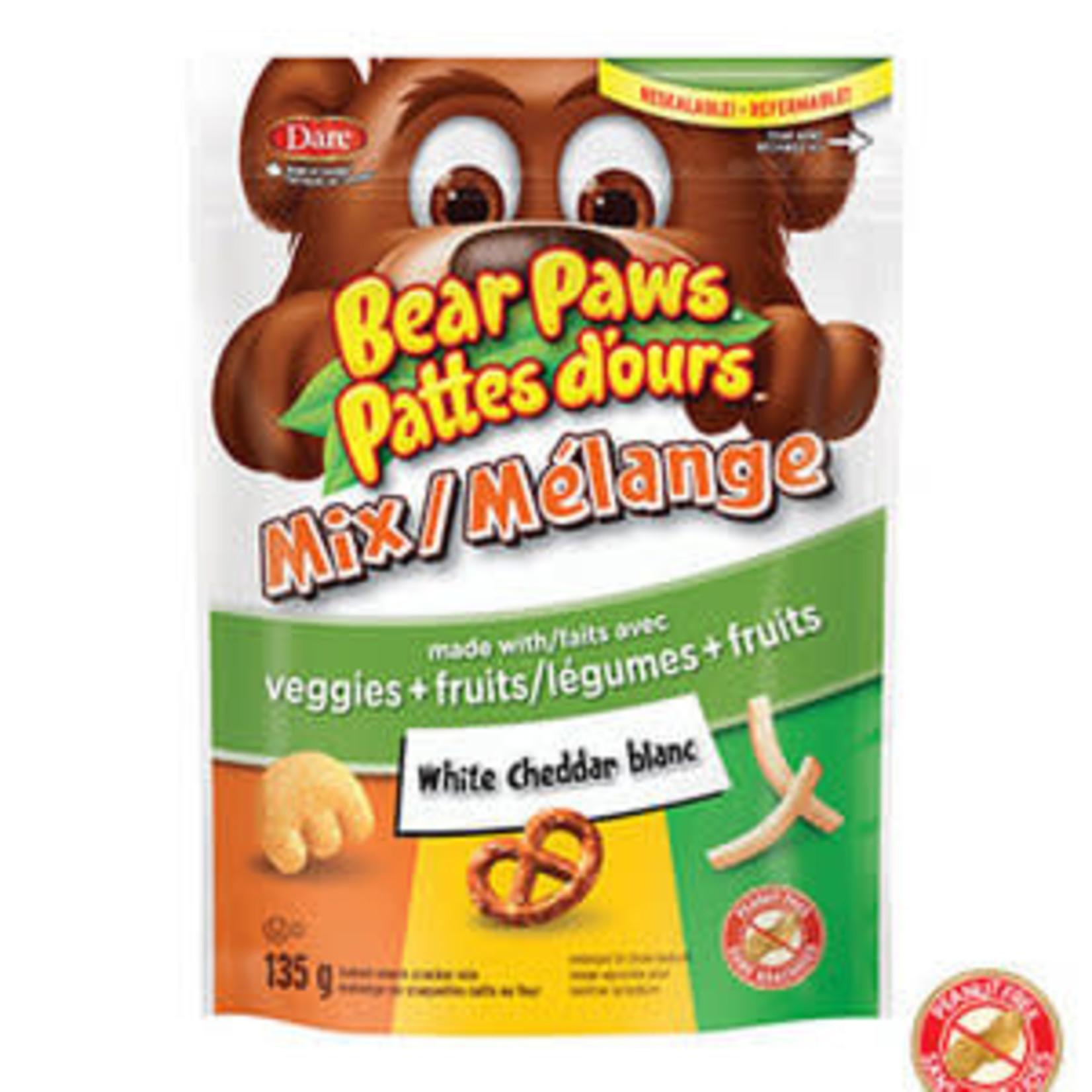 Bear Paws Mix White Cheddar 135g single