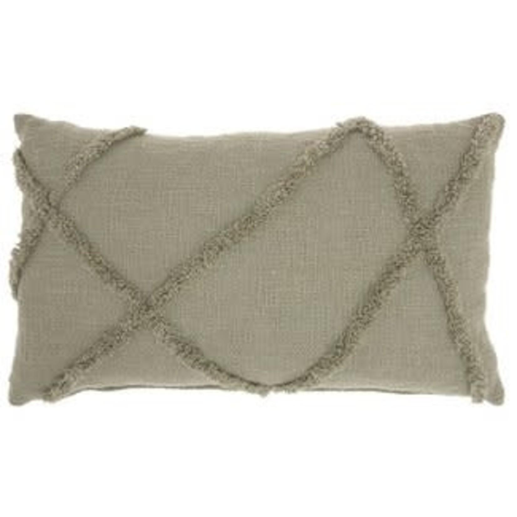 Distressed Diamond Throw Pillow - Mina Victory