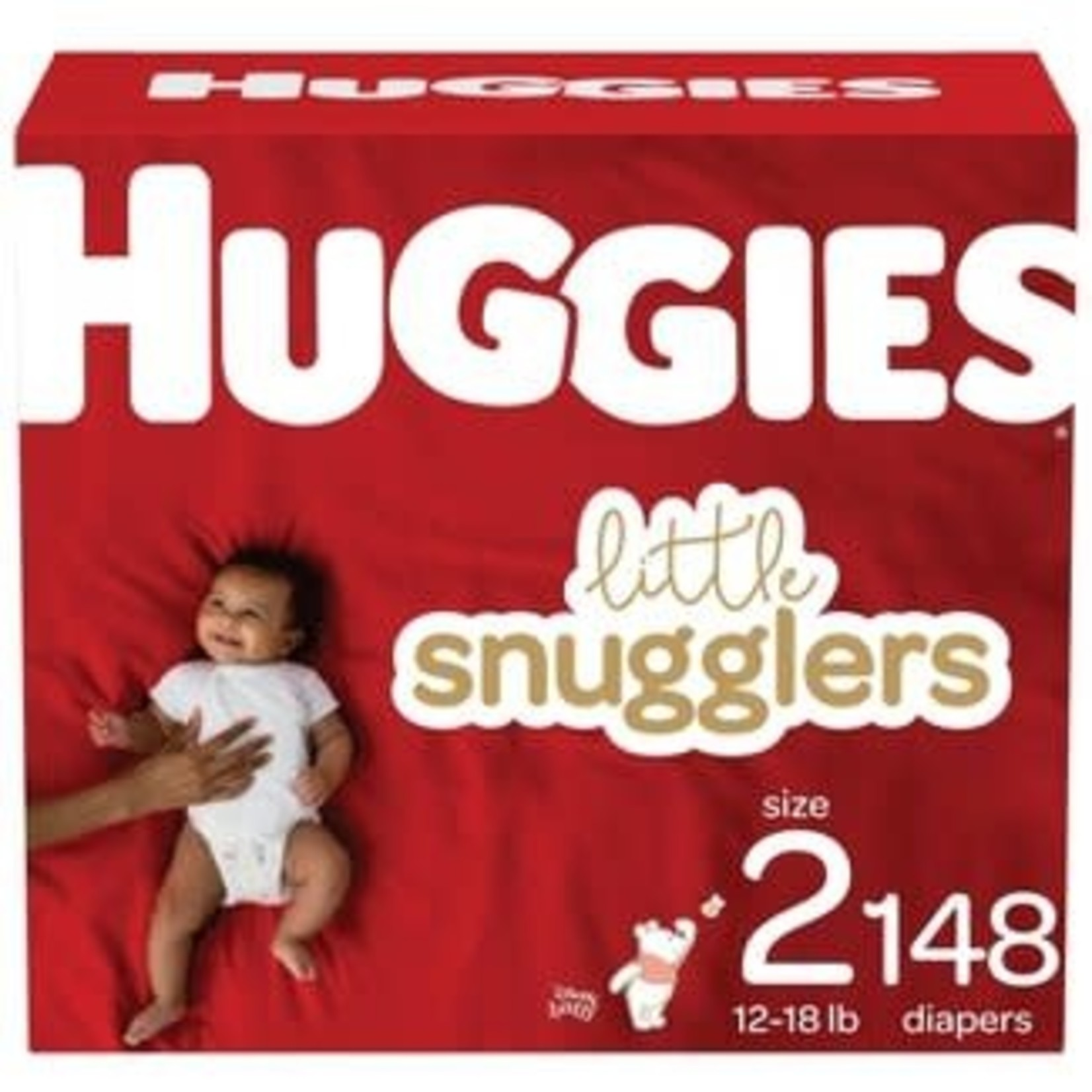 Huggies Little Snugglers Baby Diapers-Size 2- 148 ct