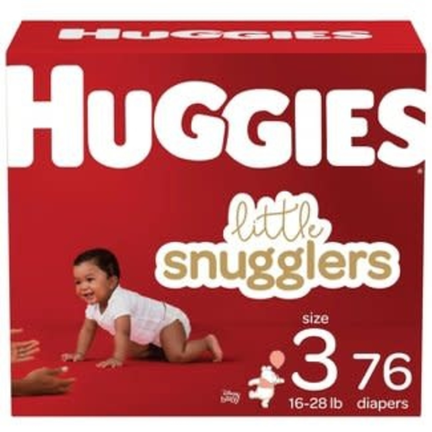 HUGGIES Little Snugglers Baby Diapers, Size 3- 76ct