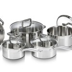 T-fal Stainless Steel 9PC Cookware Set G707S974