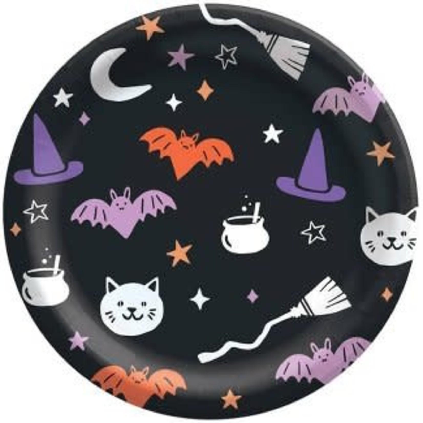 30ct Halloween Pattern Snack Plate - Spritz™