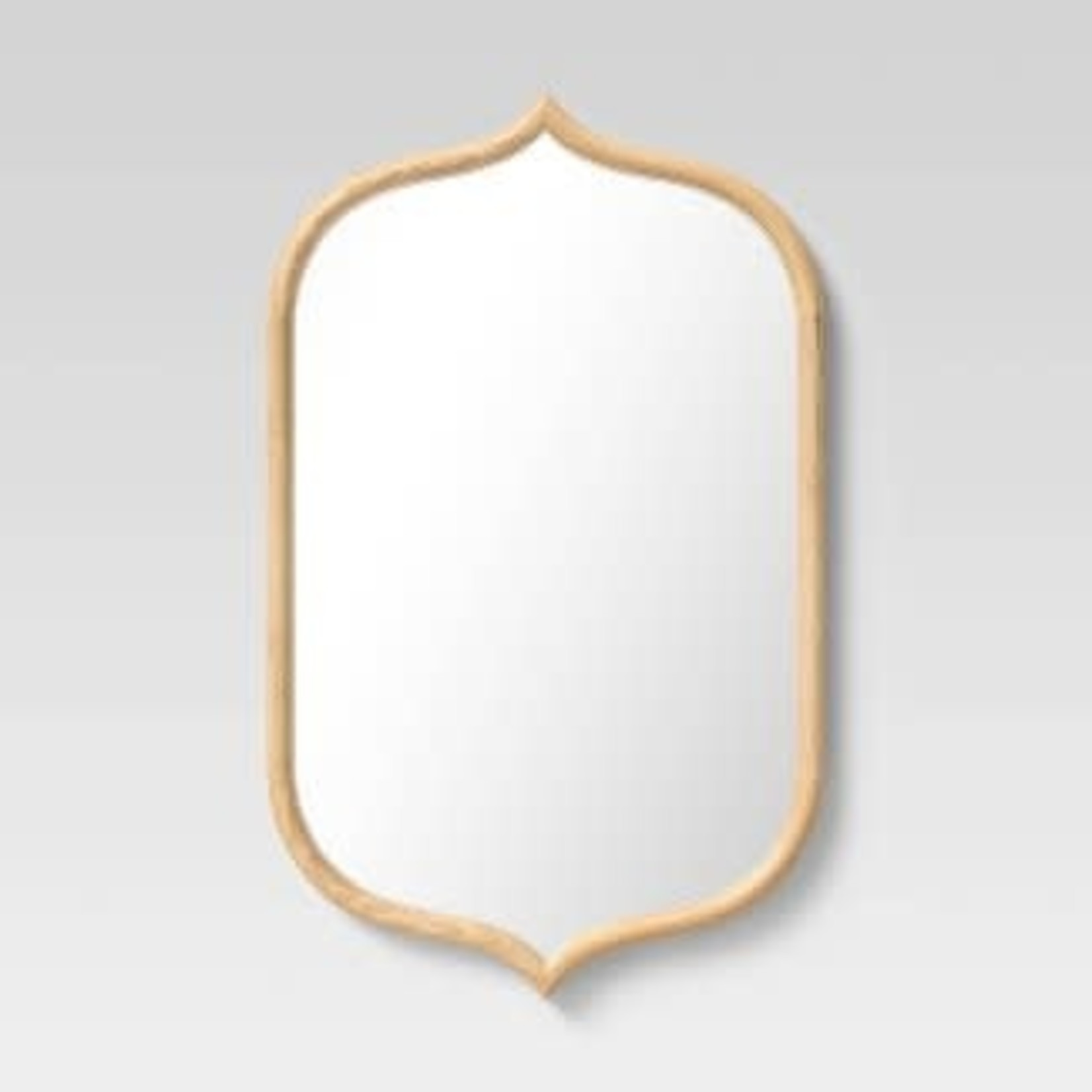 """22"""" x 36"""" Top and Bottom Peak Mirror Natural - Opalhouse™"""