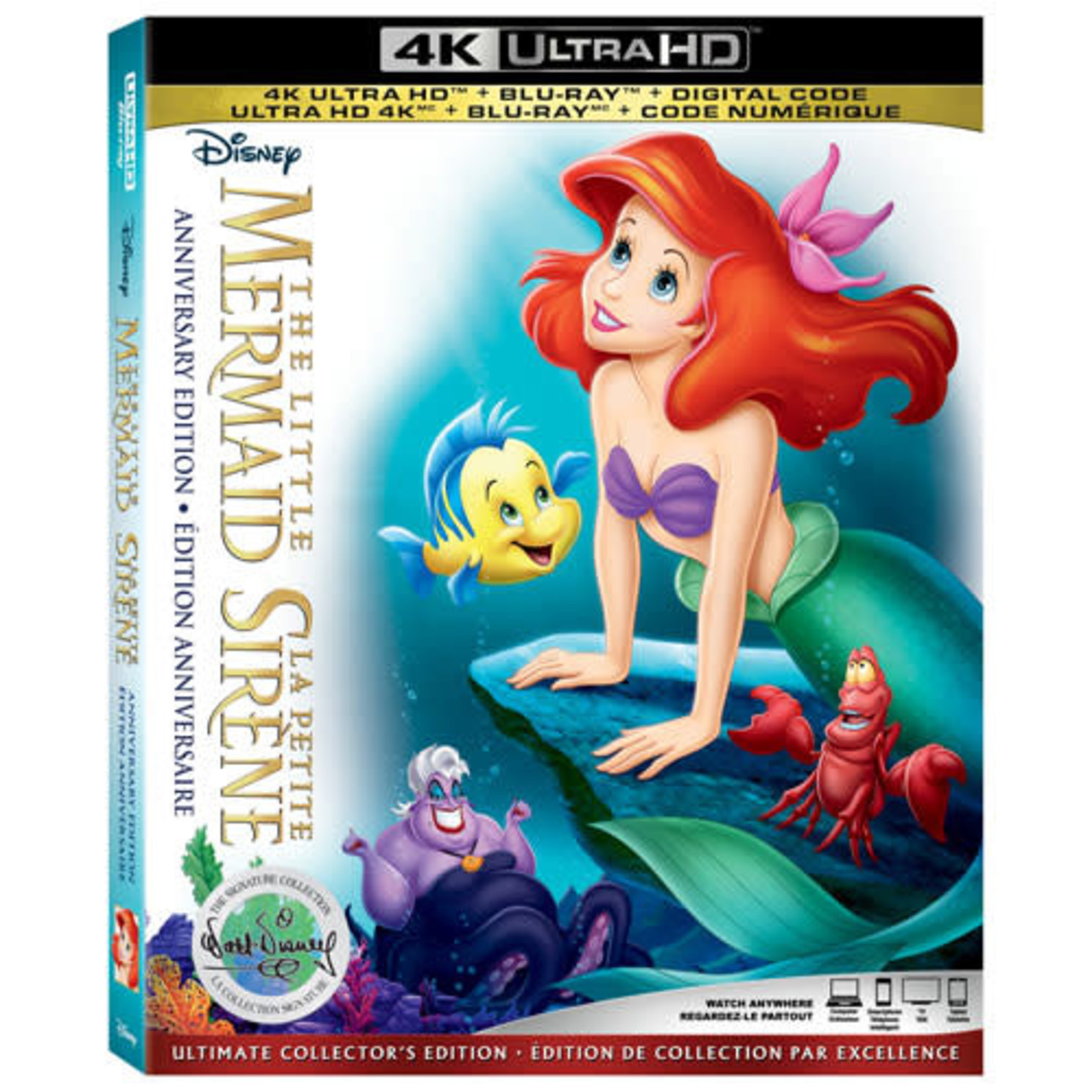 The Little Mermaid: Anniversary Edition (The Walt Disney Signature Collection) (French)(4K Ultra HD)(Blu-ray Combo)
