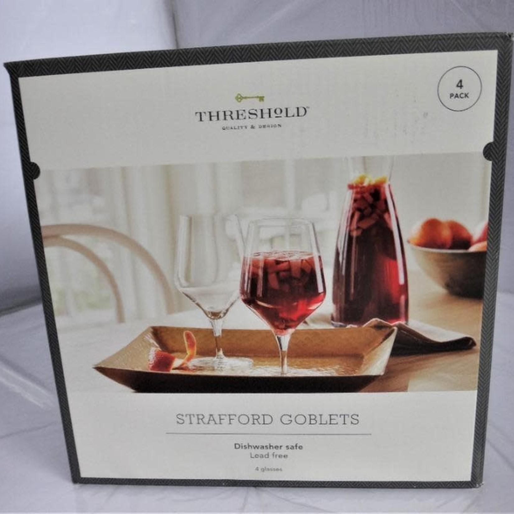 Threshold Strafford Goblets -Set of 4