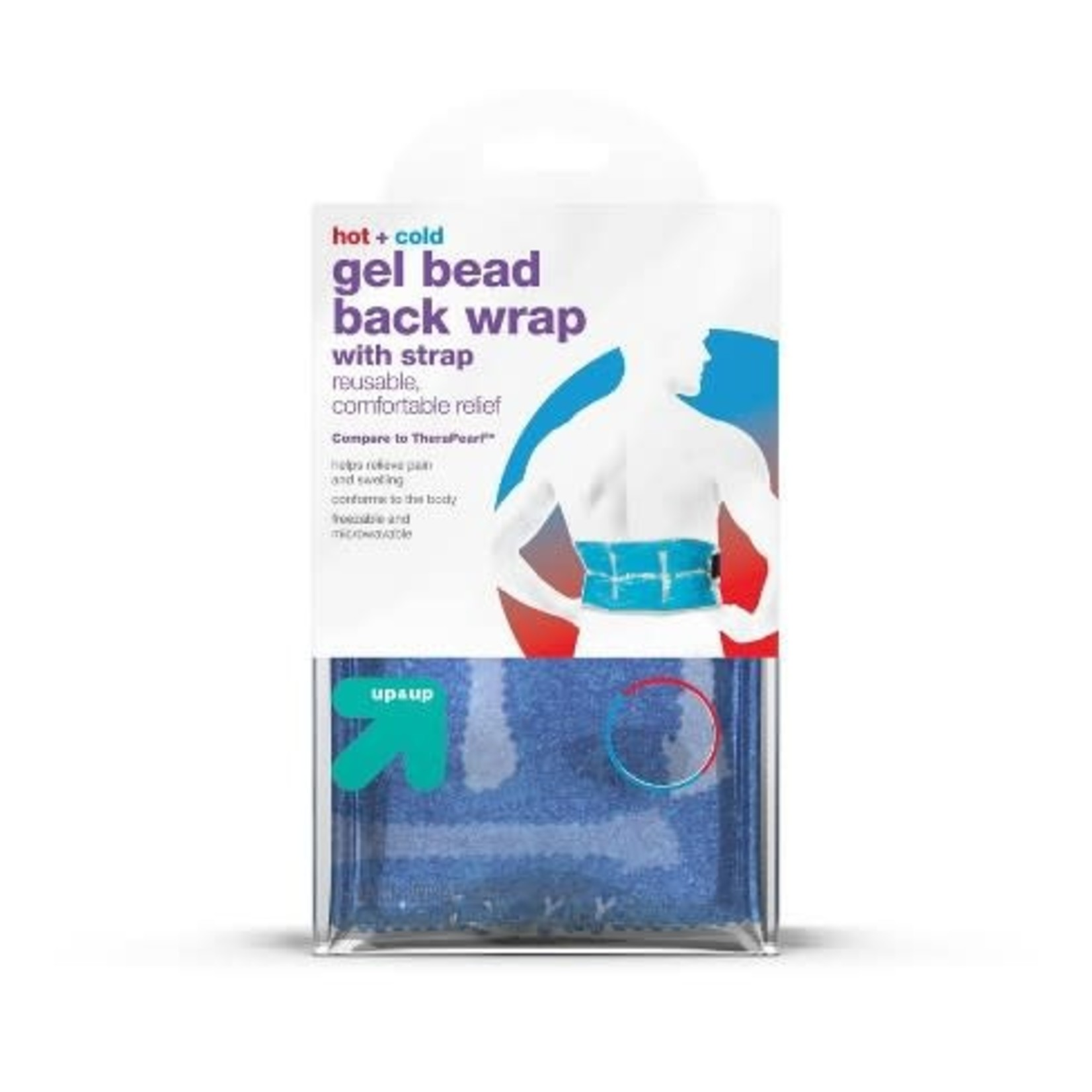 Hot+Cold Gel Bead Back Wrap with Strap