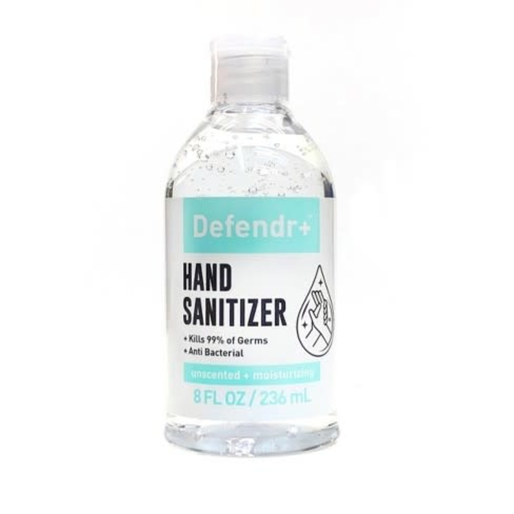 Defendr+ Hand Sanitizer 8floz -Unscented