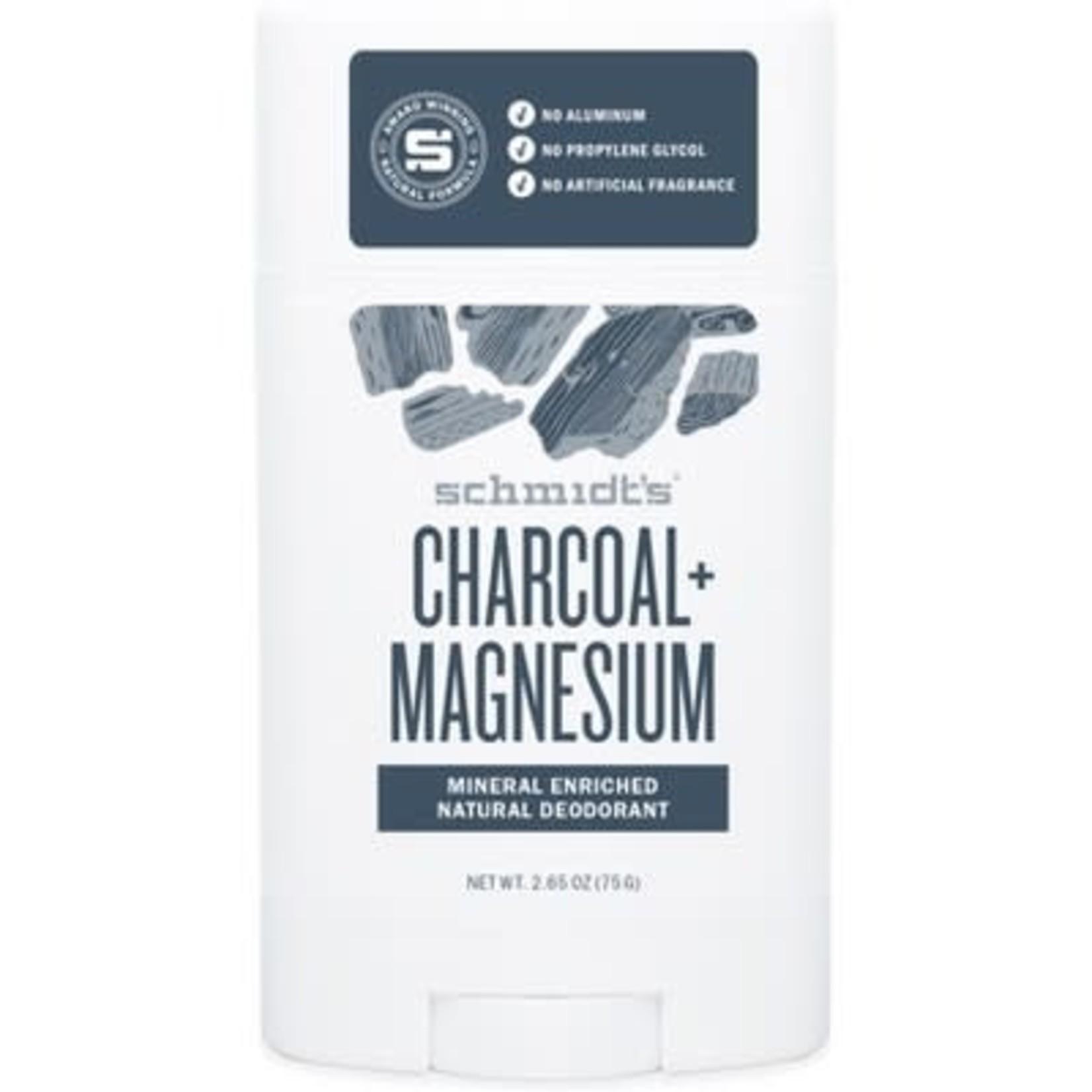 Schmidts Charcoal Magnesium Deodorant -Men's