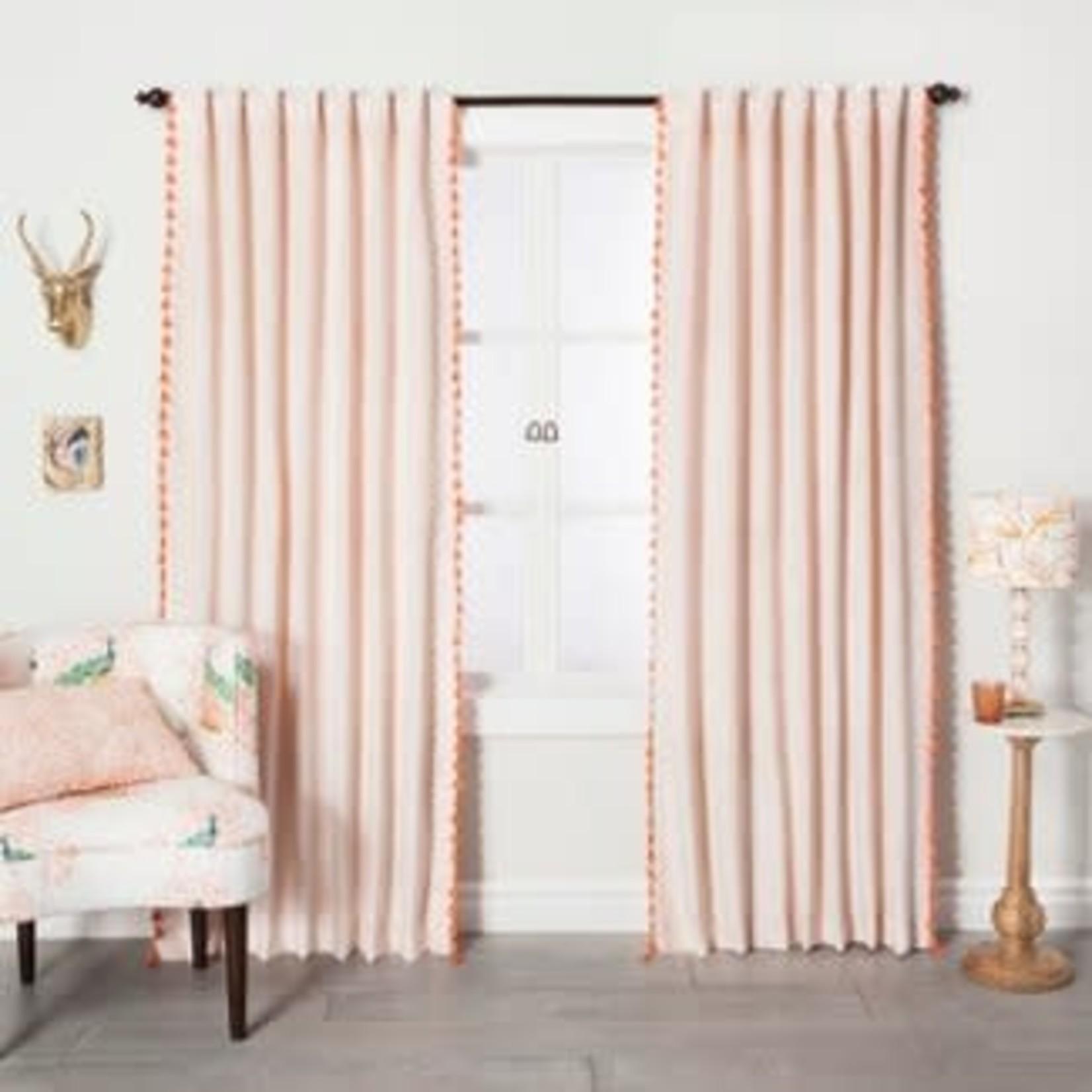 "Opalhouse | Velvet Curtain Panel with Tassels 84""x54"" (One Panel)"