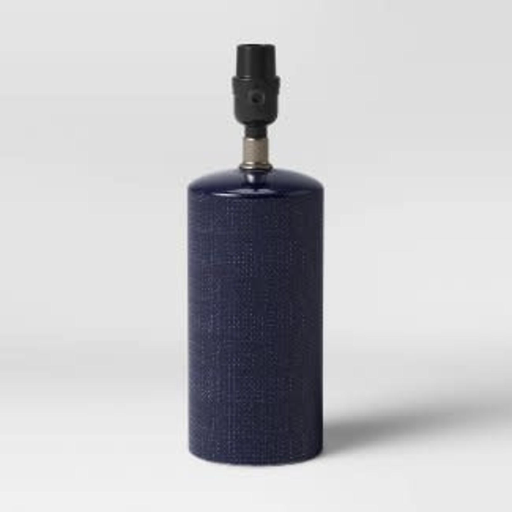 Threshold Linen Textured Ceramic Small Lamp Base -Dark Blue