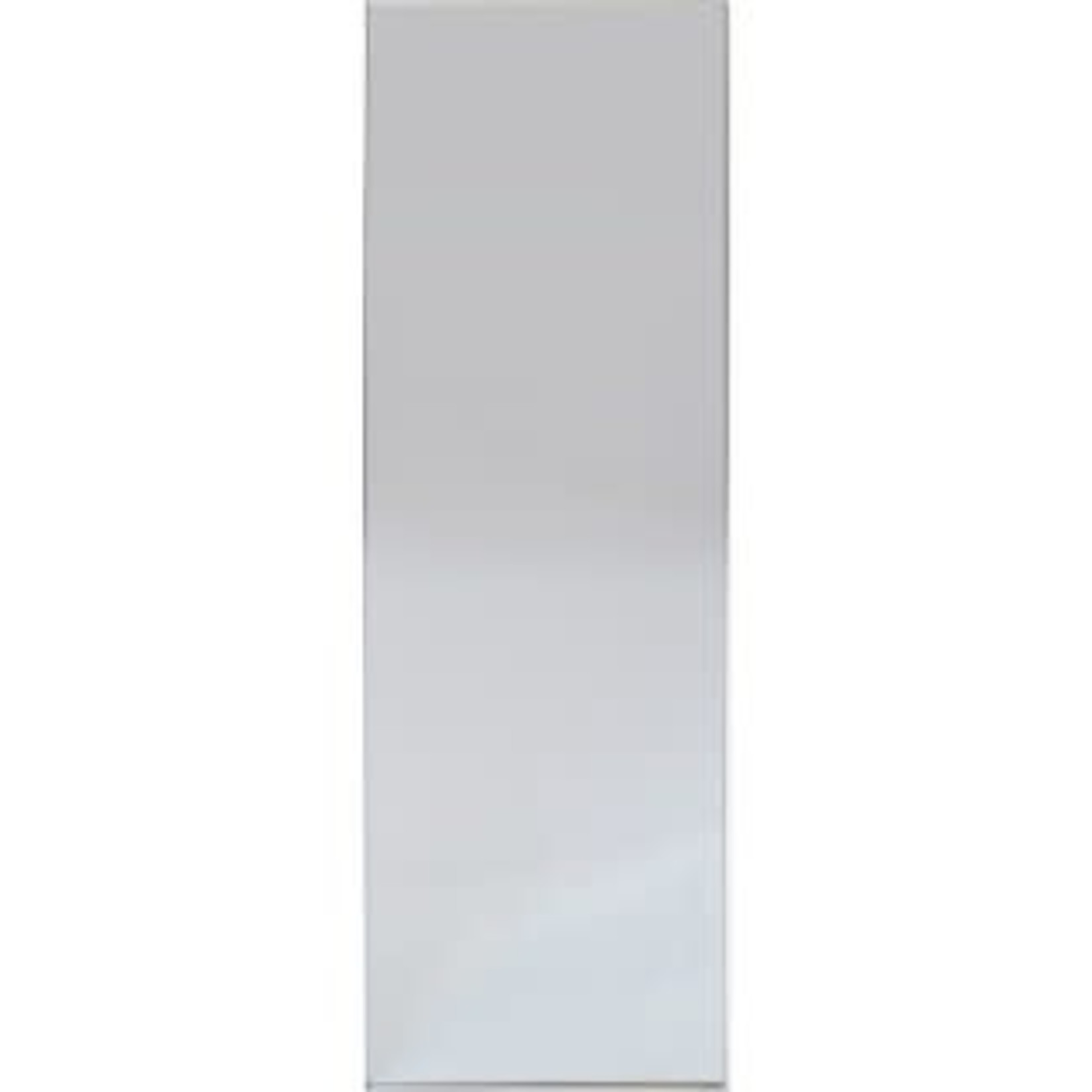 """Project 62 Brushed Nickel Modern Leaner Decorative Wall Mirror Silver 60""""x20"""""""