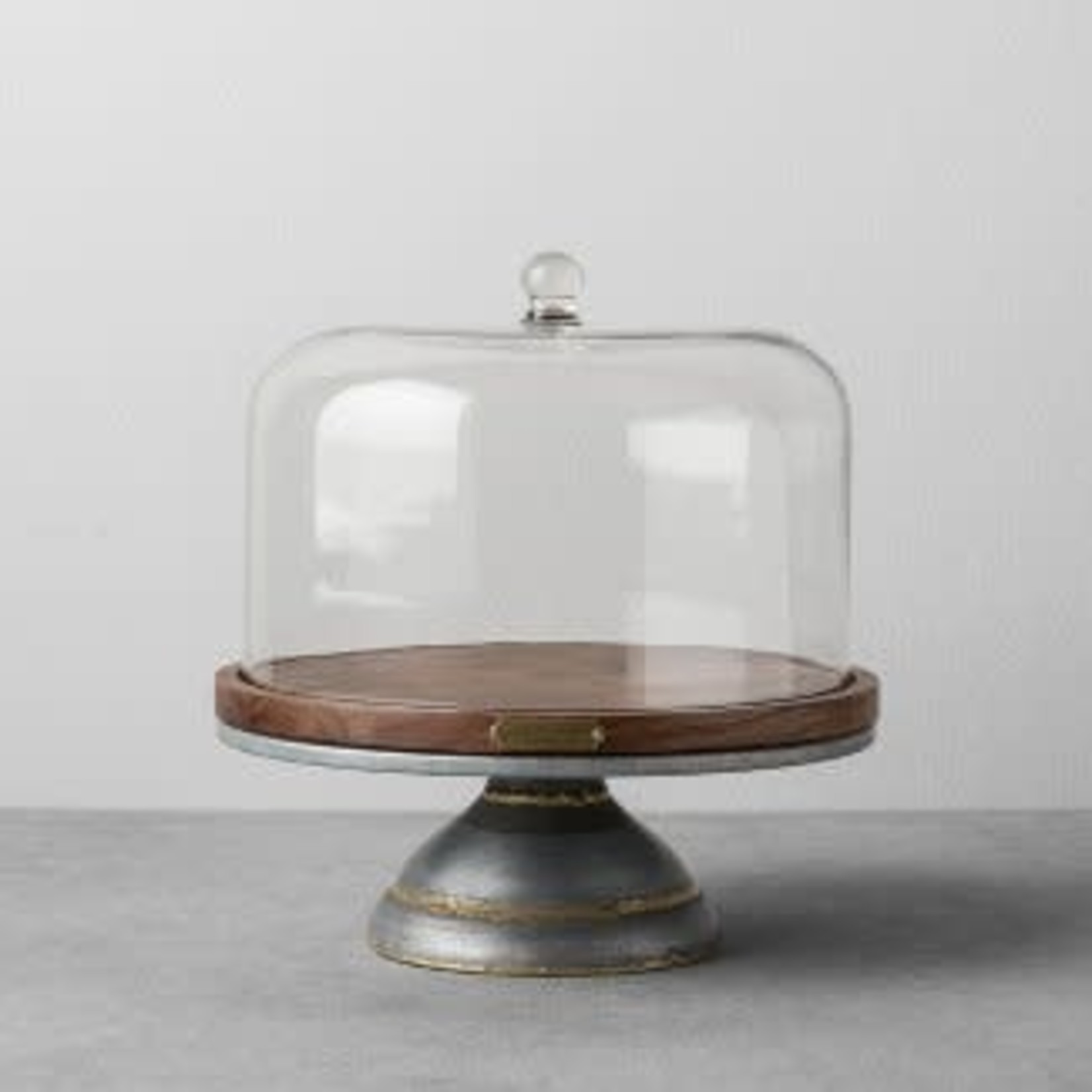Wood & Metal Covered Cake Stand - Hearth & Hand™ with Magnolia