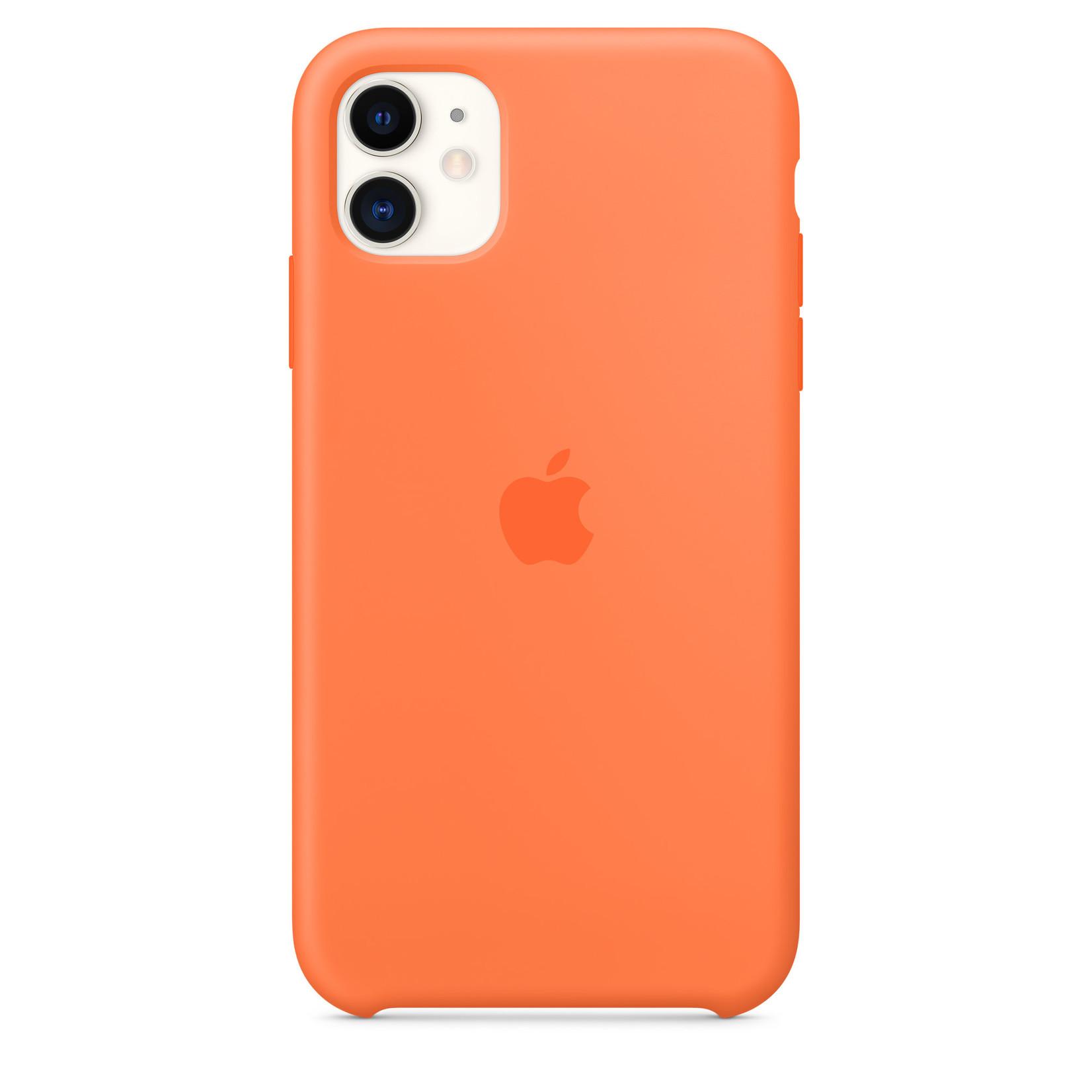 Apple Silicone Case (for iPhone 11) - Orange