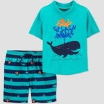 Just One You by Carter's Toddler Boys' Whale Print Short Sleeve Rash Guard Set 18m