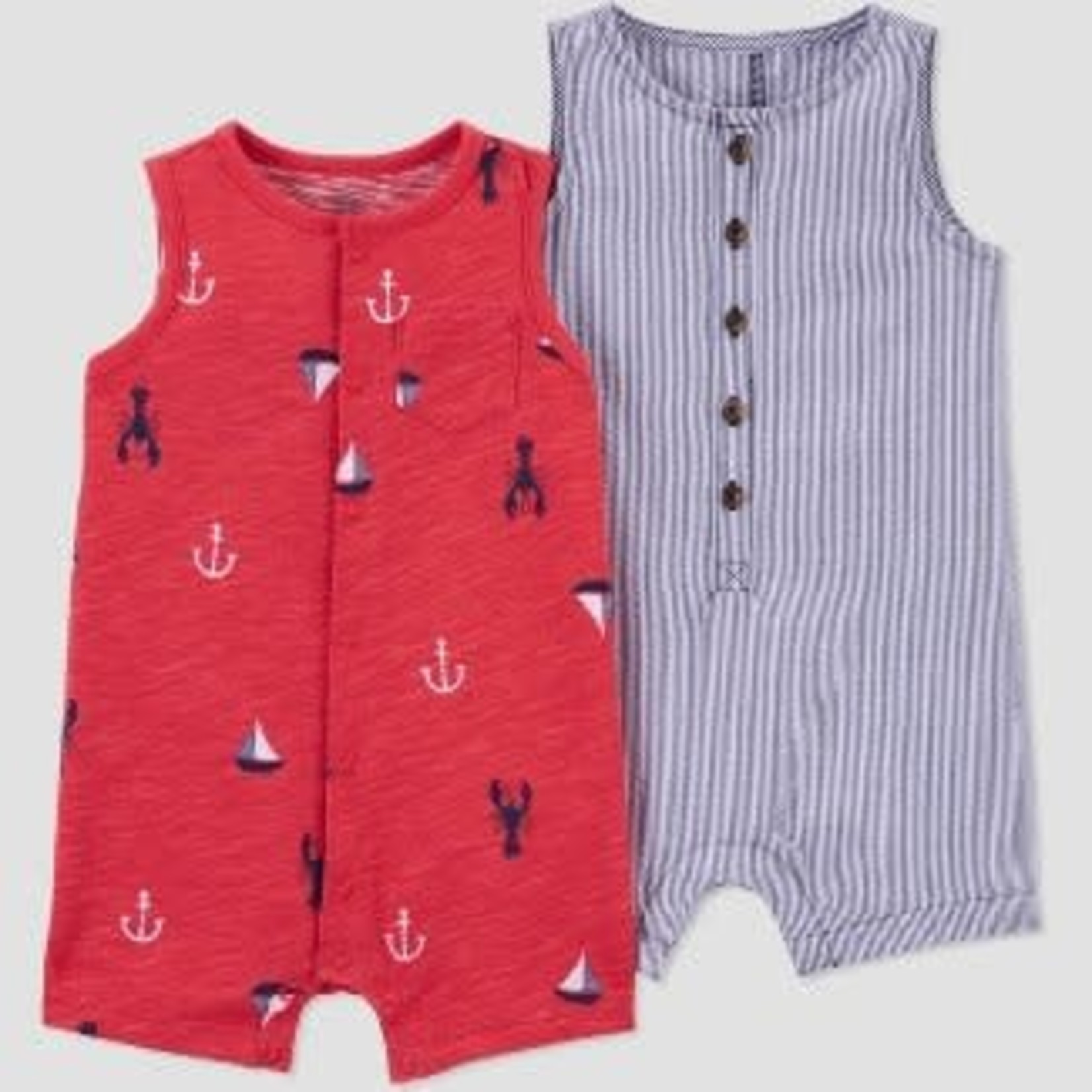Just One You by Carter's Baby Boys' Summer Print Romper 2 Piece 3M