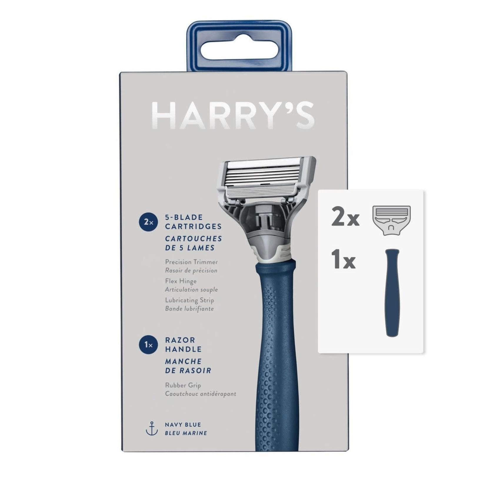 Harry's 5-Blade Men's Razor – 1 Razor Handle + 2 Razor Blade Refills