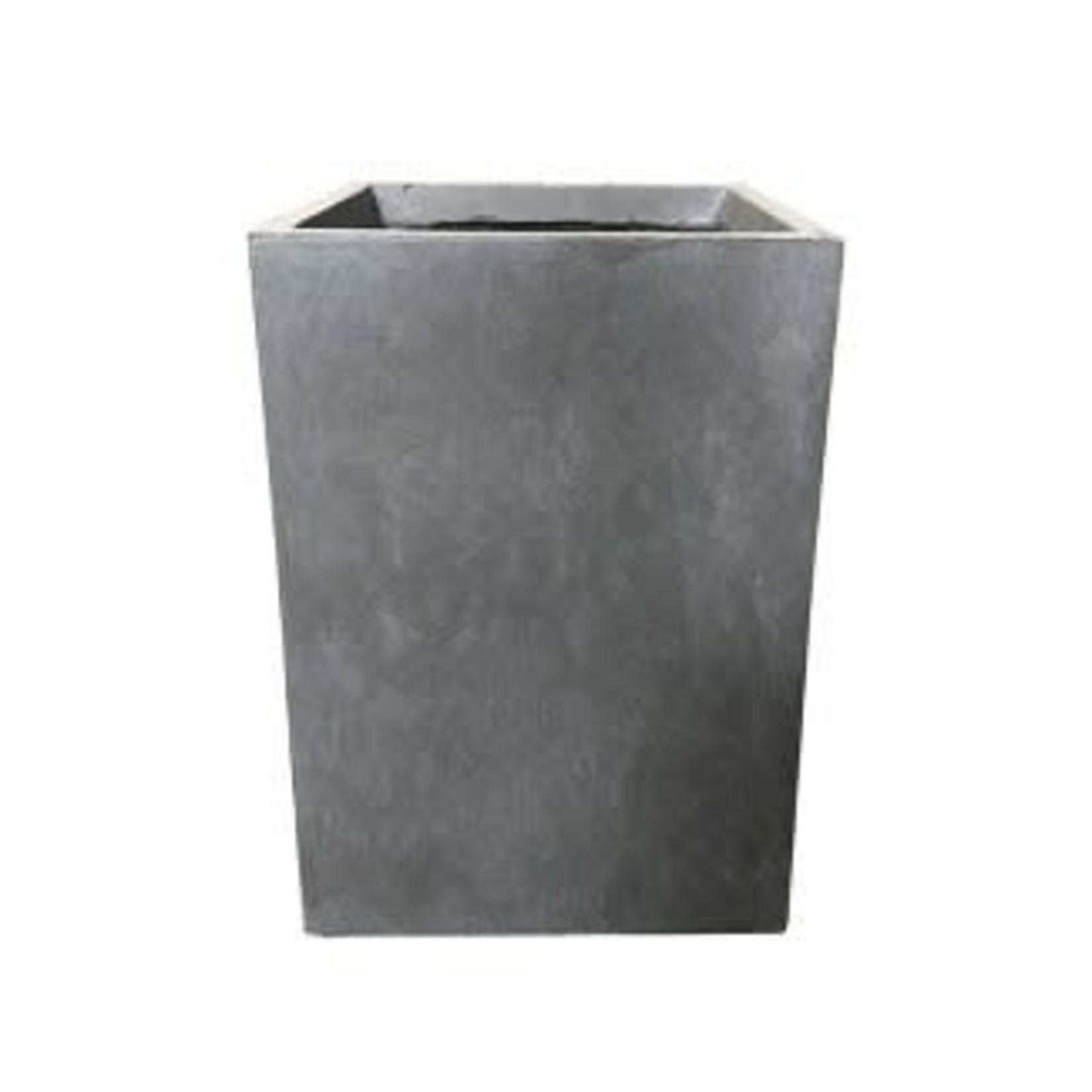 Kante Lightweight Tall Outdoor Square Concrete Planter Slate Gray