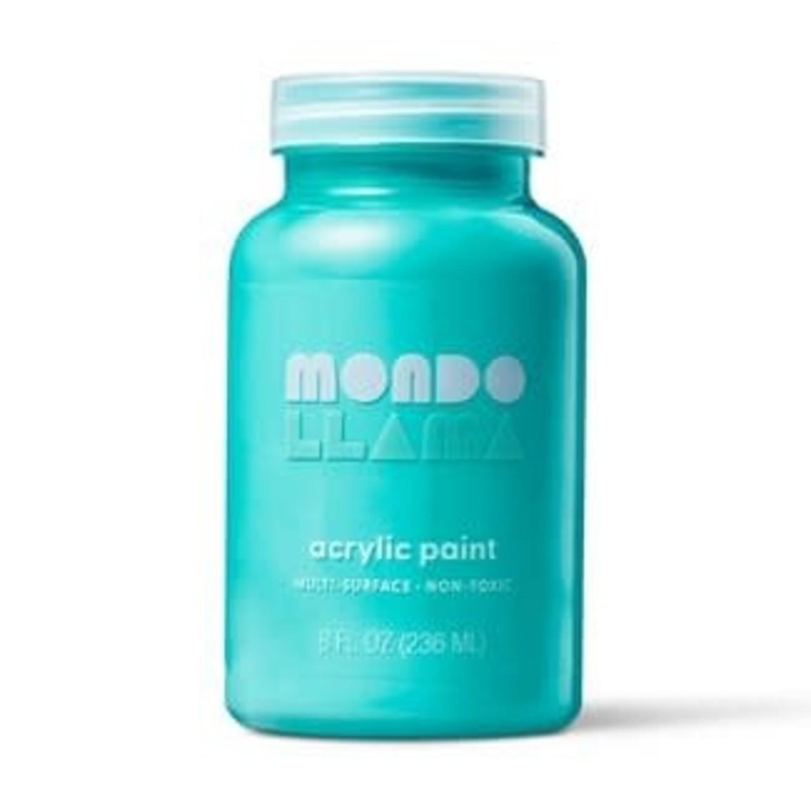 Mondo Lama 8oz Satin Acrylic Paint -Sparkling Pool