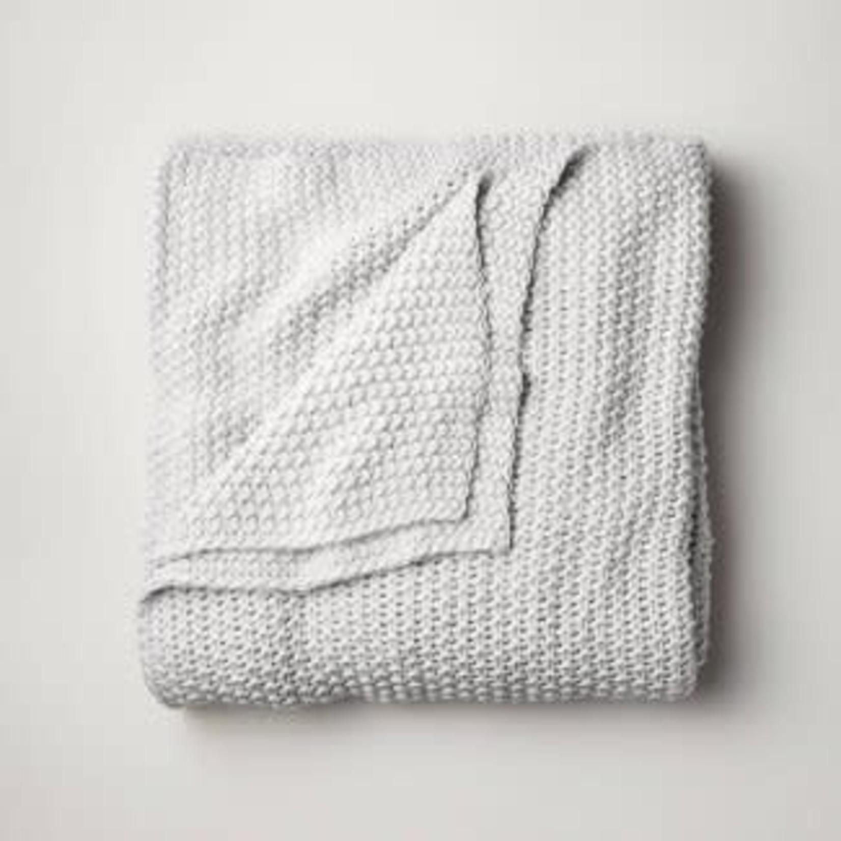 Casaluna Chunky Knit Bed Blanket-KING Grey