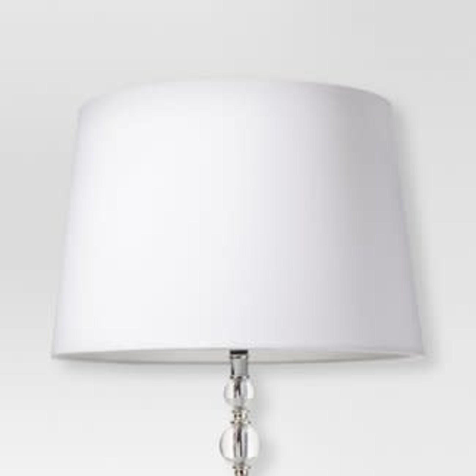Linen Drum Lamp Shade White