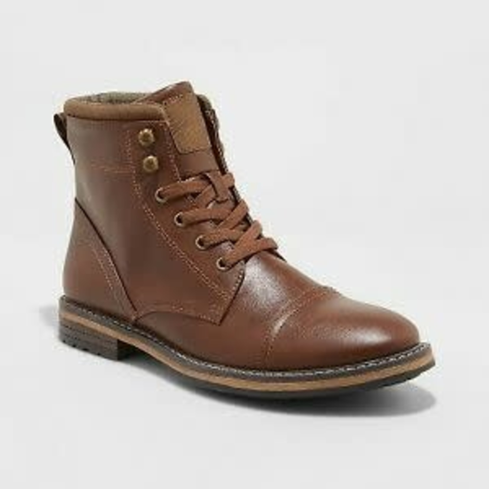 Men's Jeffrey Cap Toe Combat Boots - Goodfellow & Co - Brown - 13