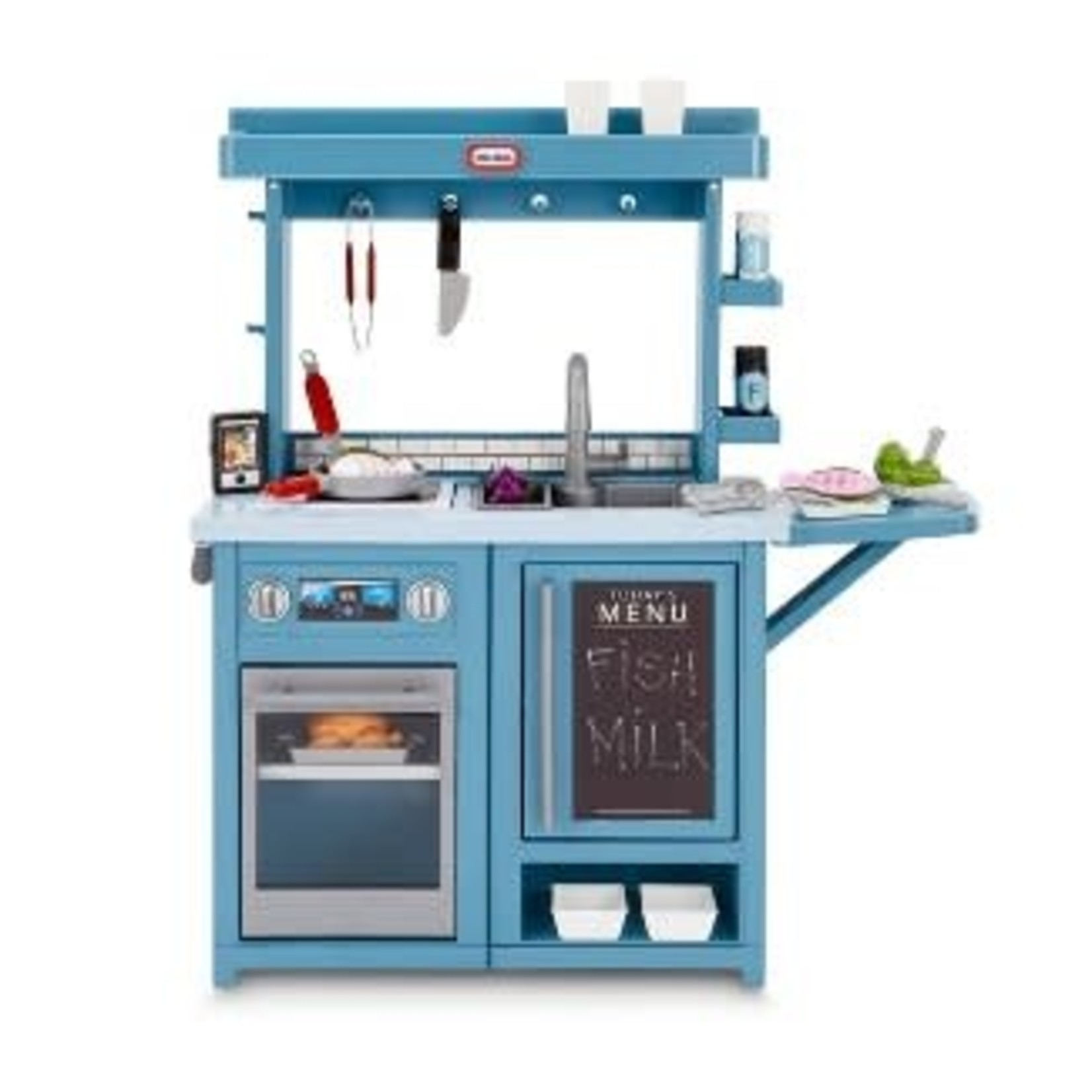 Little Tikes First Prep Kitchen Realistic Pretend Play Kitchen with Over 25 Accessories *Dent on top