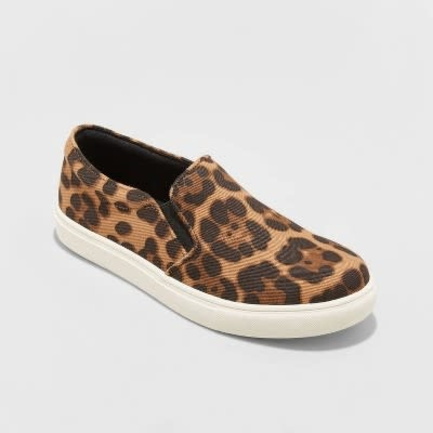 A New Day | Women's Reese Canvas Leopard Print Quilted Sneakers-7.5