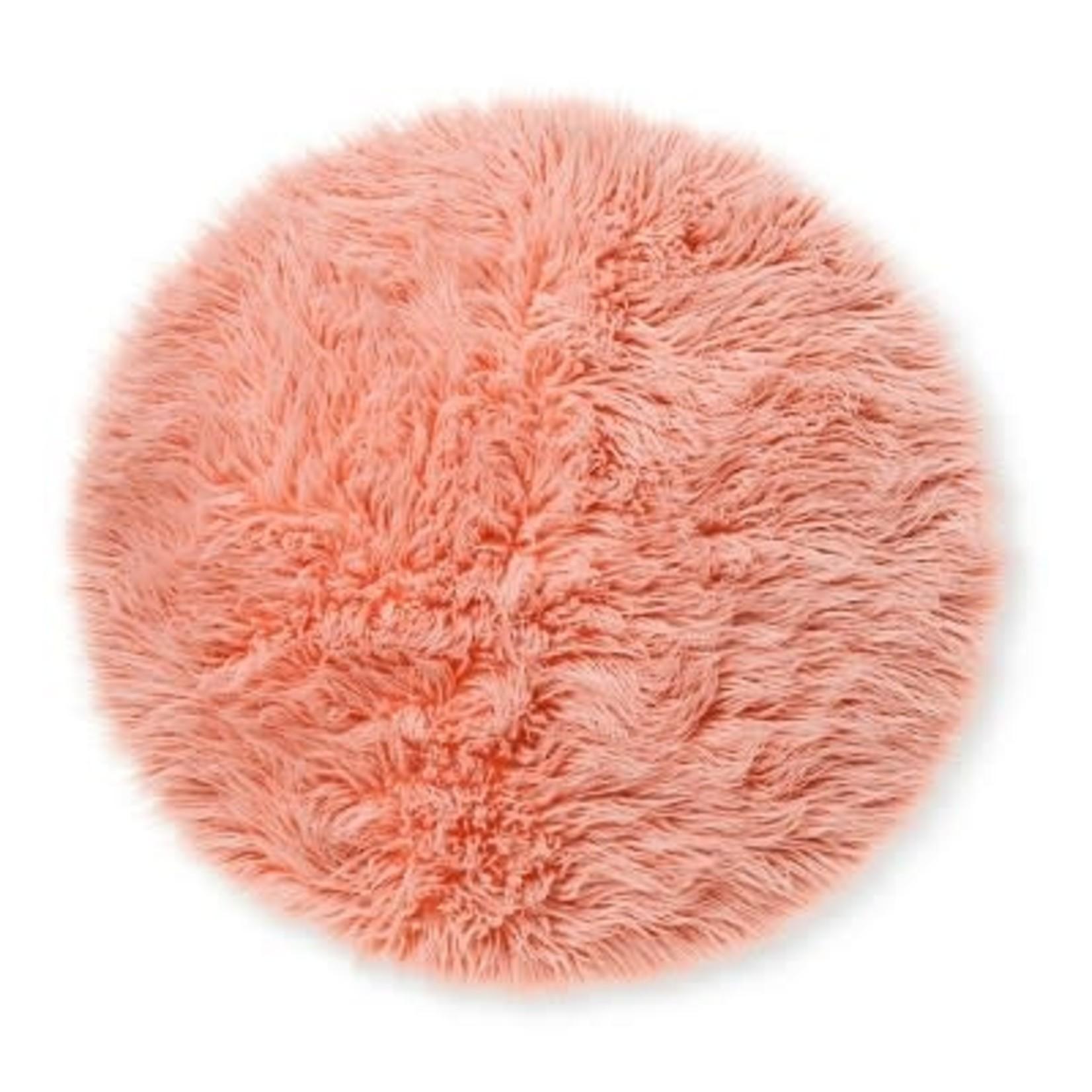 3' Faux Fur Rug Round Pink - Pillowfort™