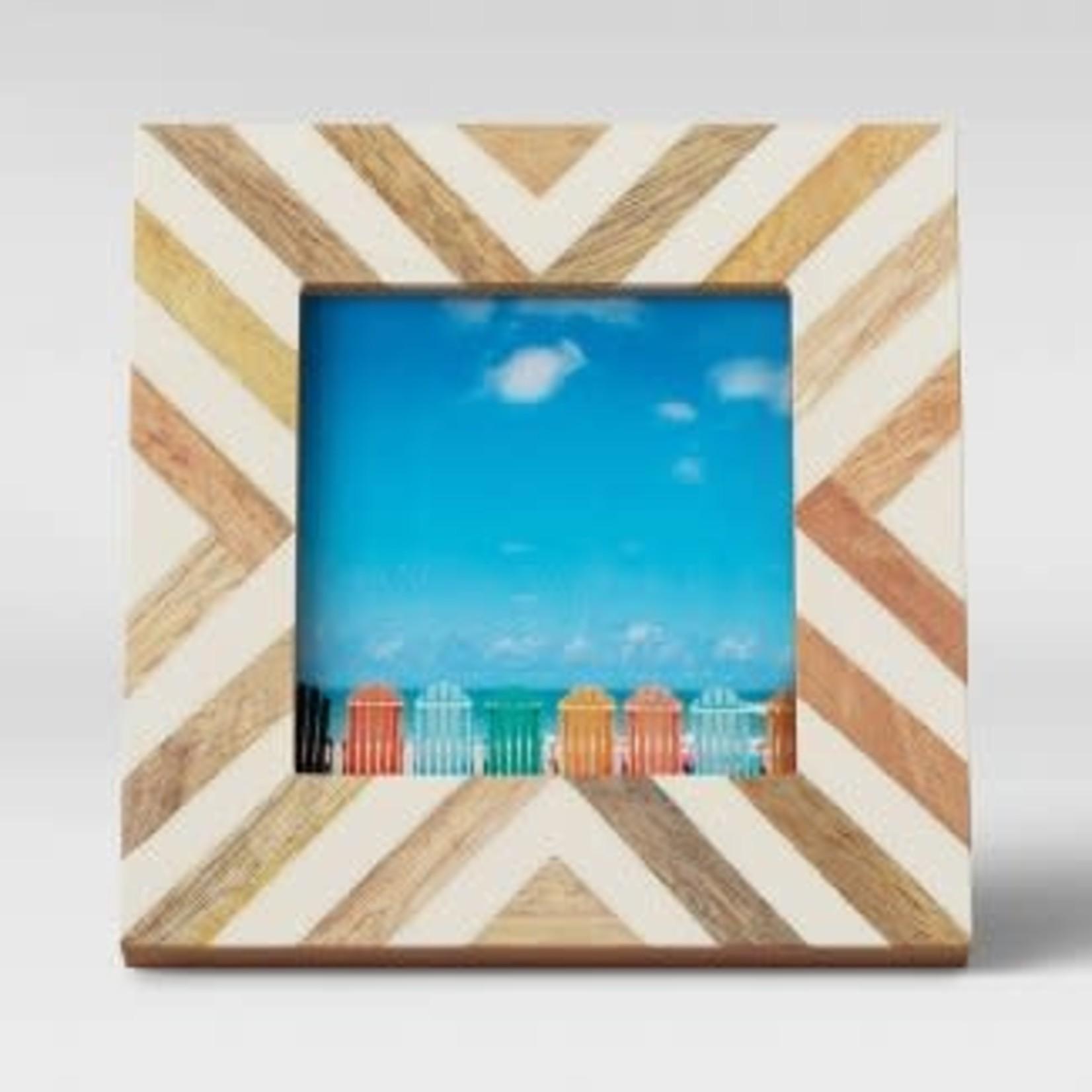 "Opalhouse 4"" x 4"" Resin and Wood Photo Frame"