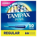 Tampax Pearl Regular Absorbency Tampons-50