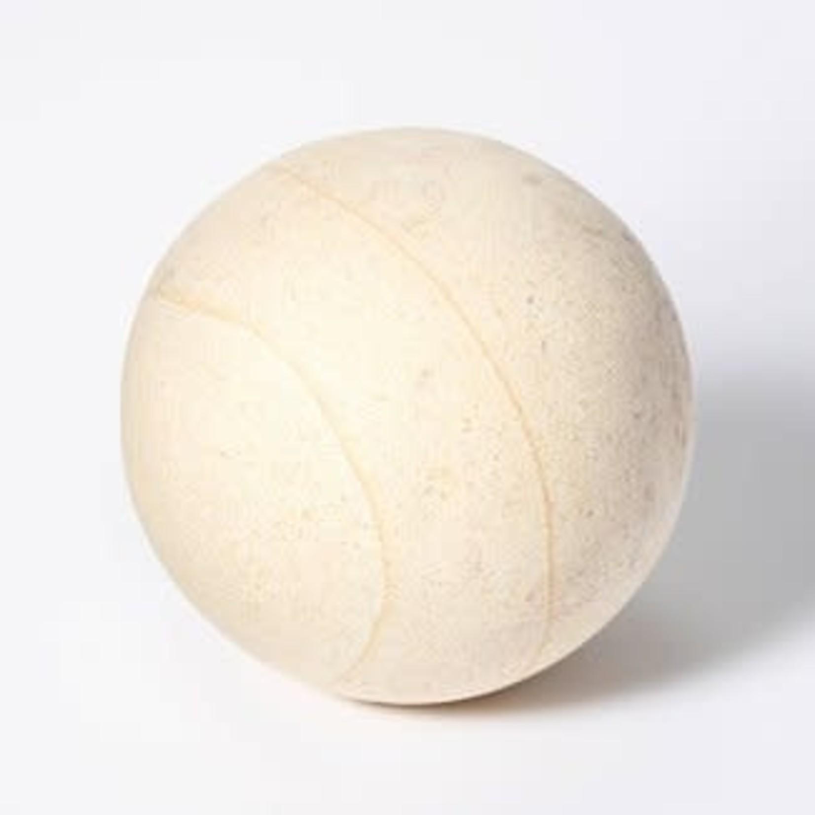 "Threshold   4"" Decorative Stone Wood Ball Natural"