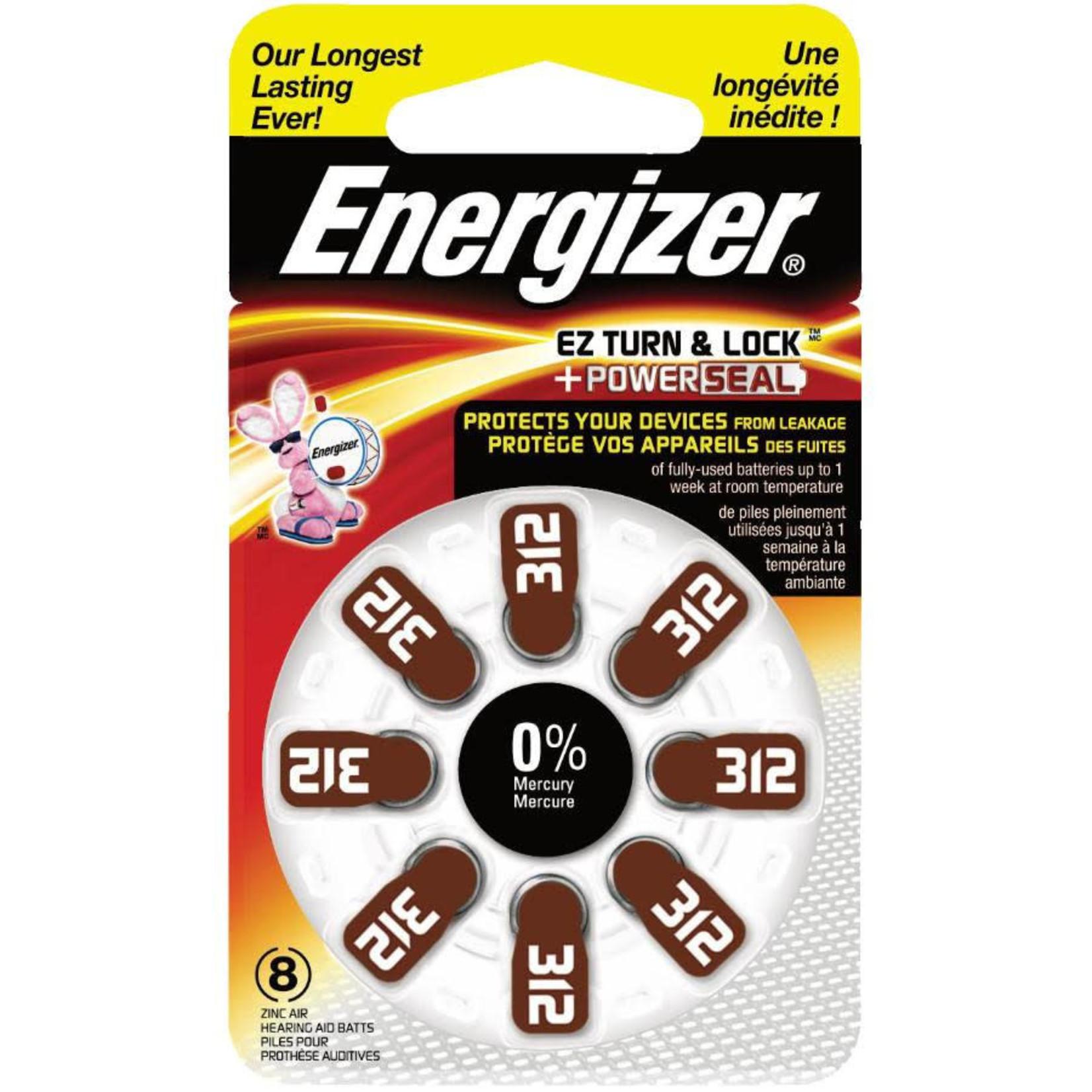 Energizer Hearing Aid Batteries 312 -8pk