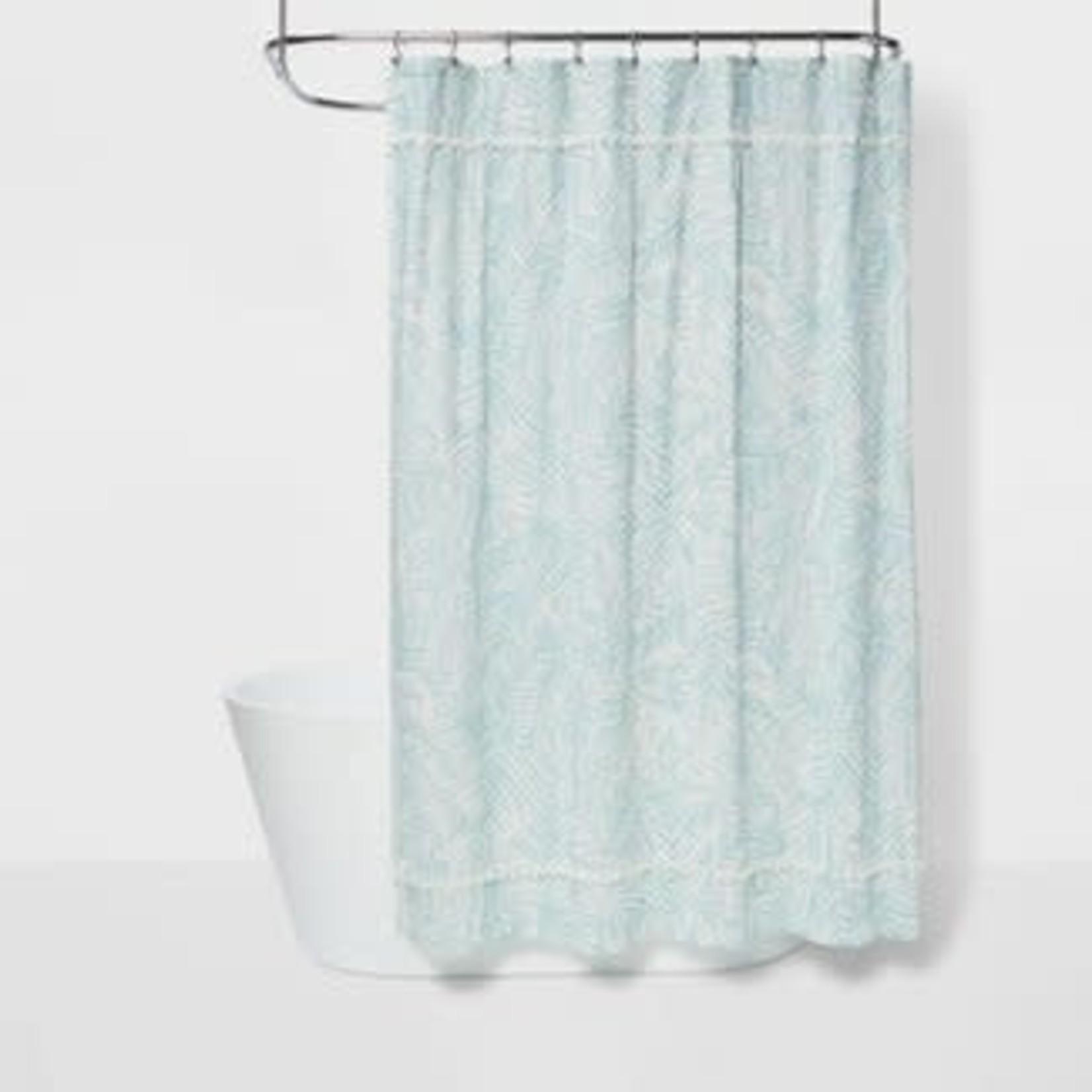 Opalhouse Caribbean Leaf Shower Curtain Aqua