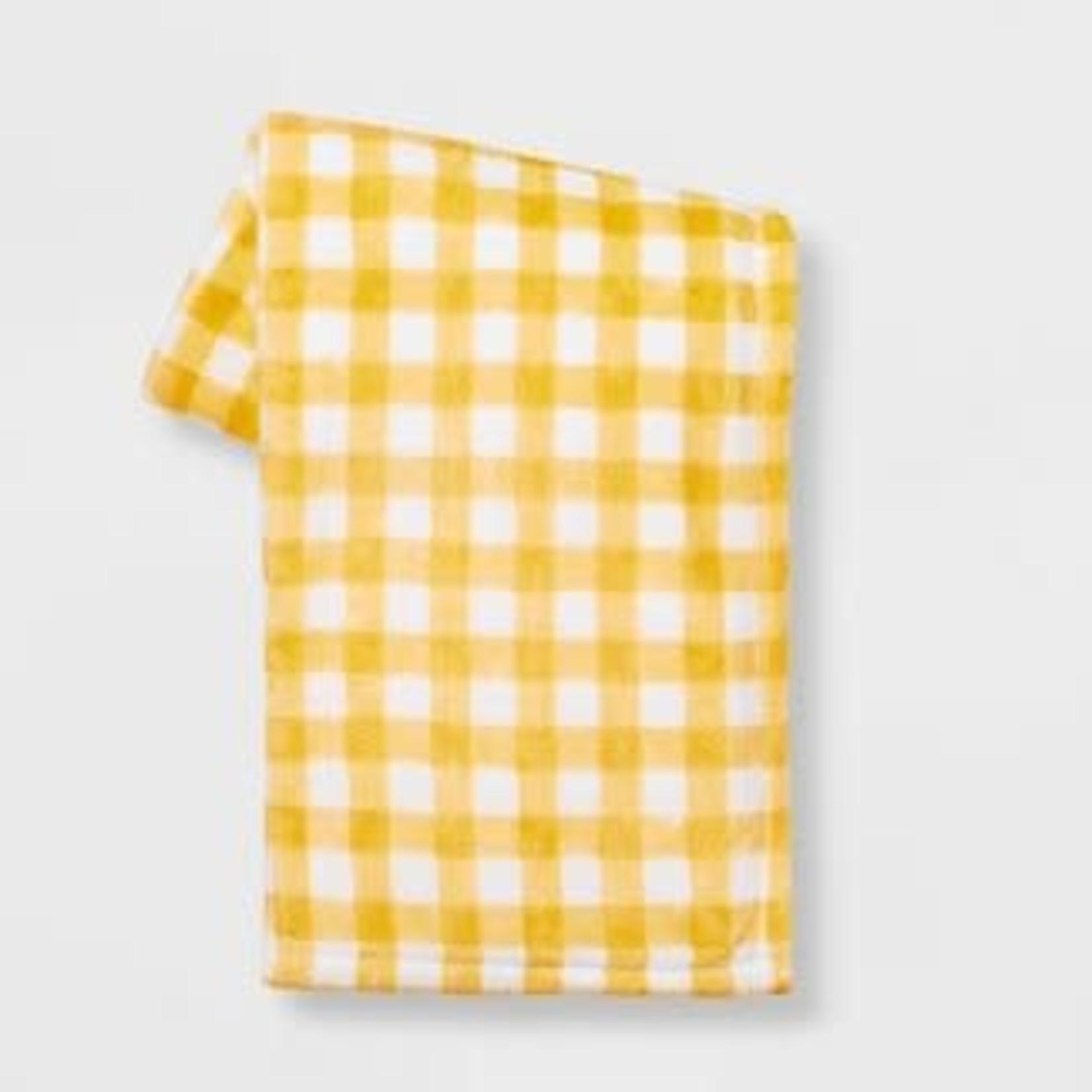 Spritz Plaid Printed Plush Easter Throw Blanket Yellow