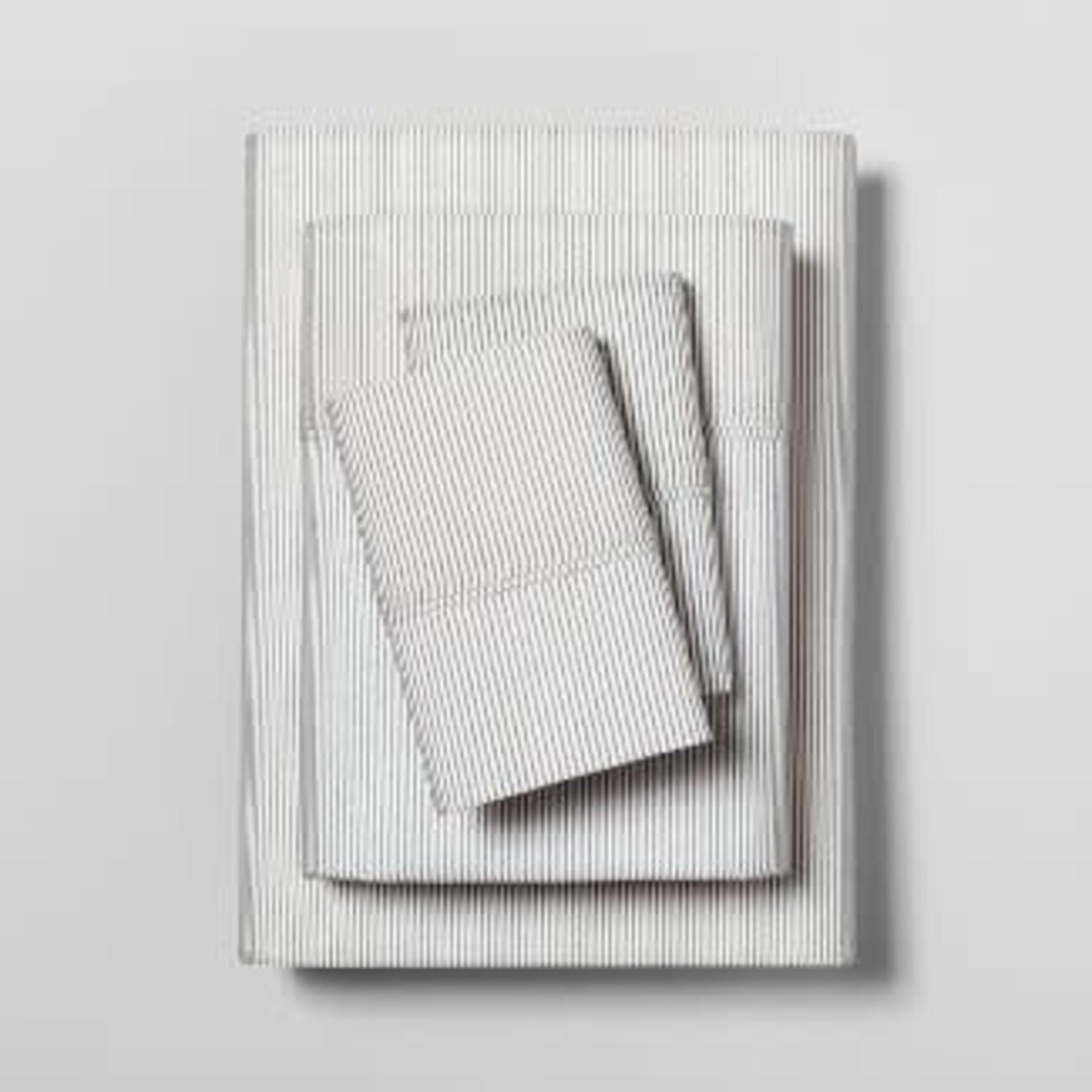 Hearth & Hand™ with Magnolia   Microstripe Printed Organic Sheet Set -KING