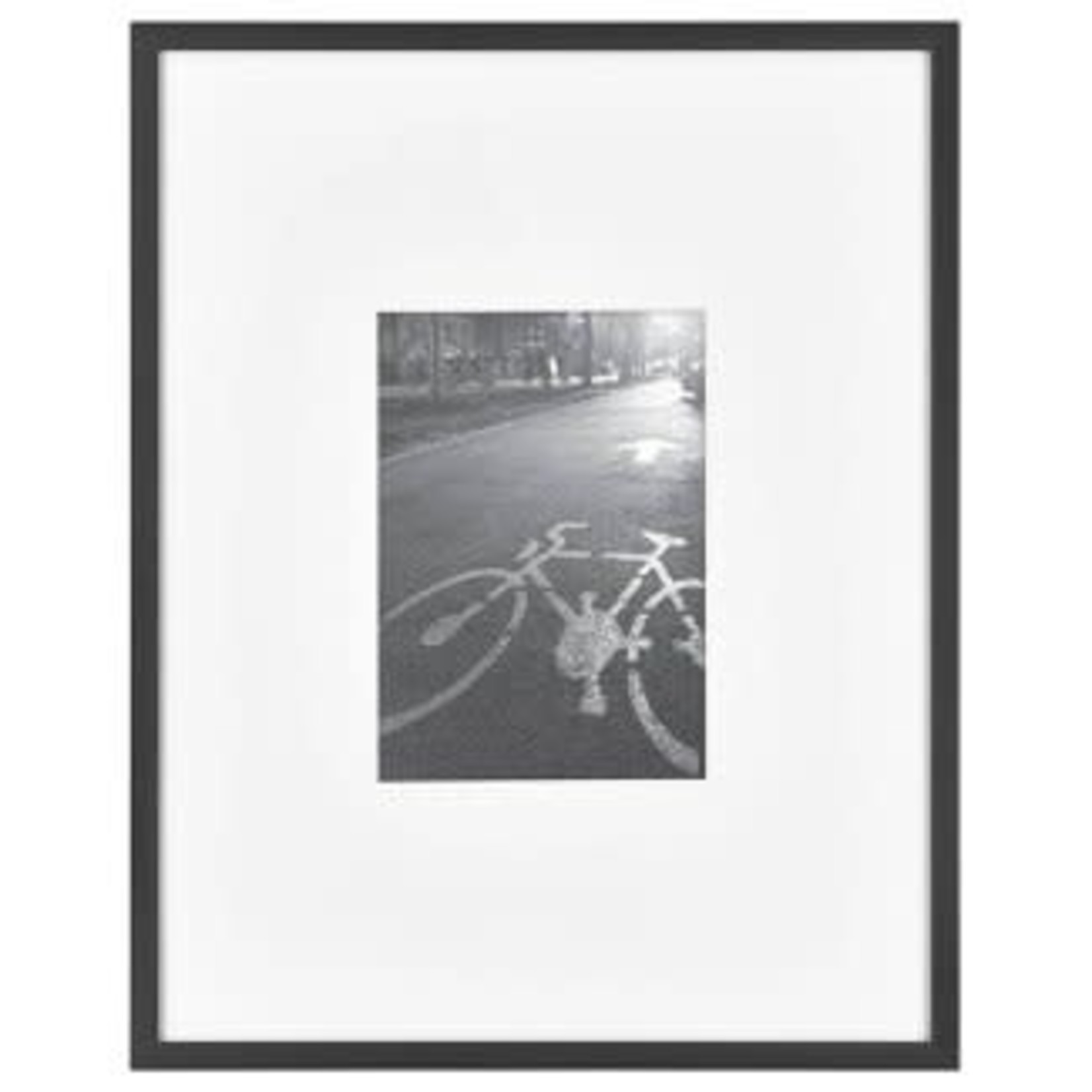 """Project 62 Thin Gallery Matted Photo Frame Black 11"""" x 14"""" Matted to 5"""" x 7"""""""