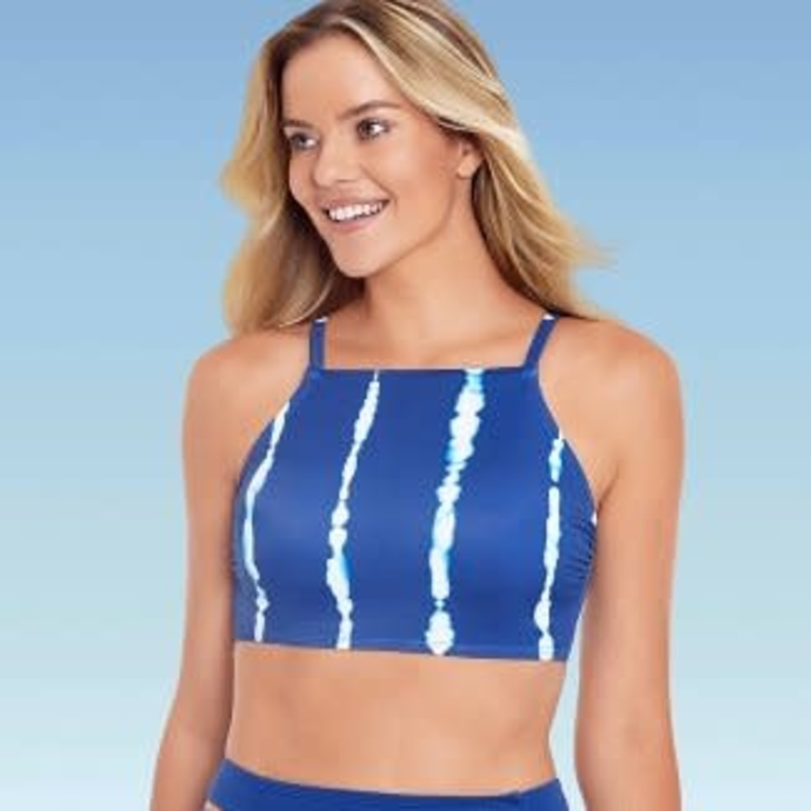 Beach Betty by Miracle Brands| Women's Slimming Control High Neck Lace-Up Bikini Top -XL
