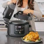 Ninja Foodi OP305 6.5 Quart TenderCrisp Pressure Cooker - Black/Gray *Open box, used condtion,
