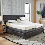Sleep Science 32.5 cm (13 in.) Bamboo Cool Split King Memory Foam Mattress with Q-Plus Adjustable Base *Open box